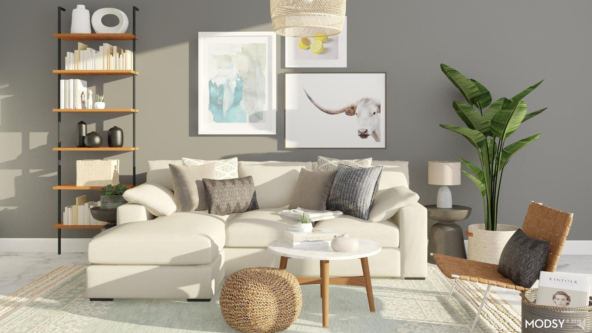 Small Streamlined Rustic Living Room