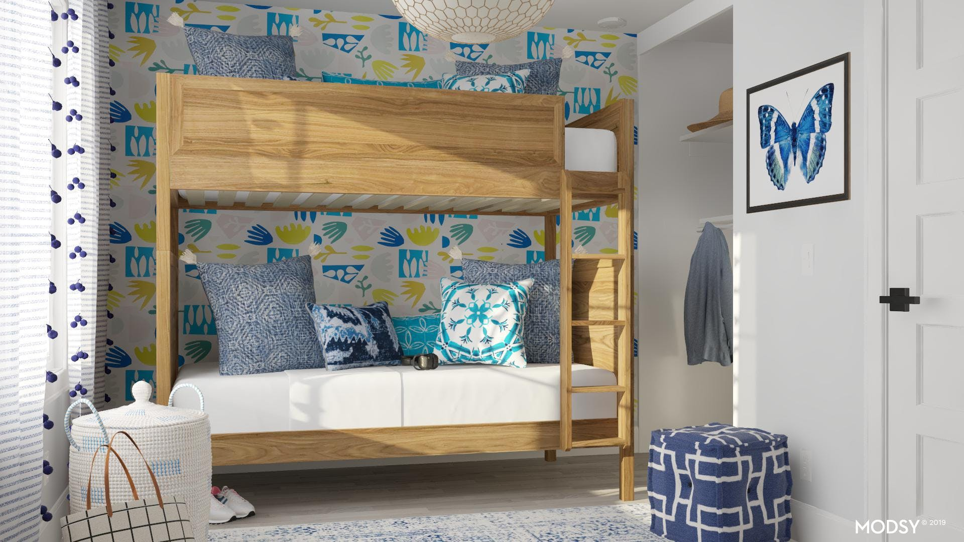 Traditional Blue Kids Room