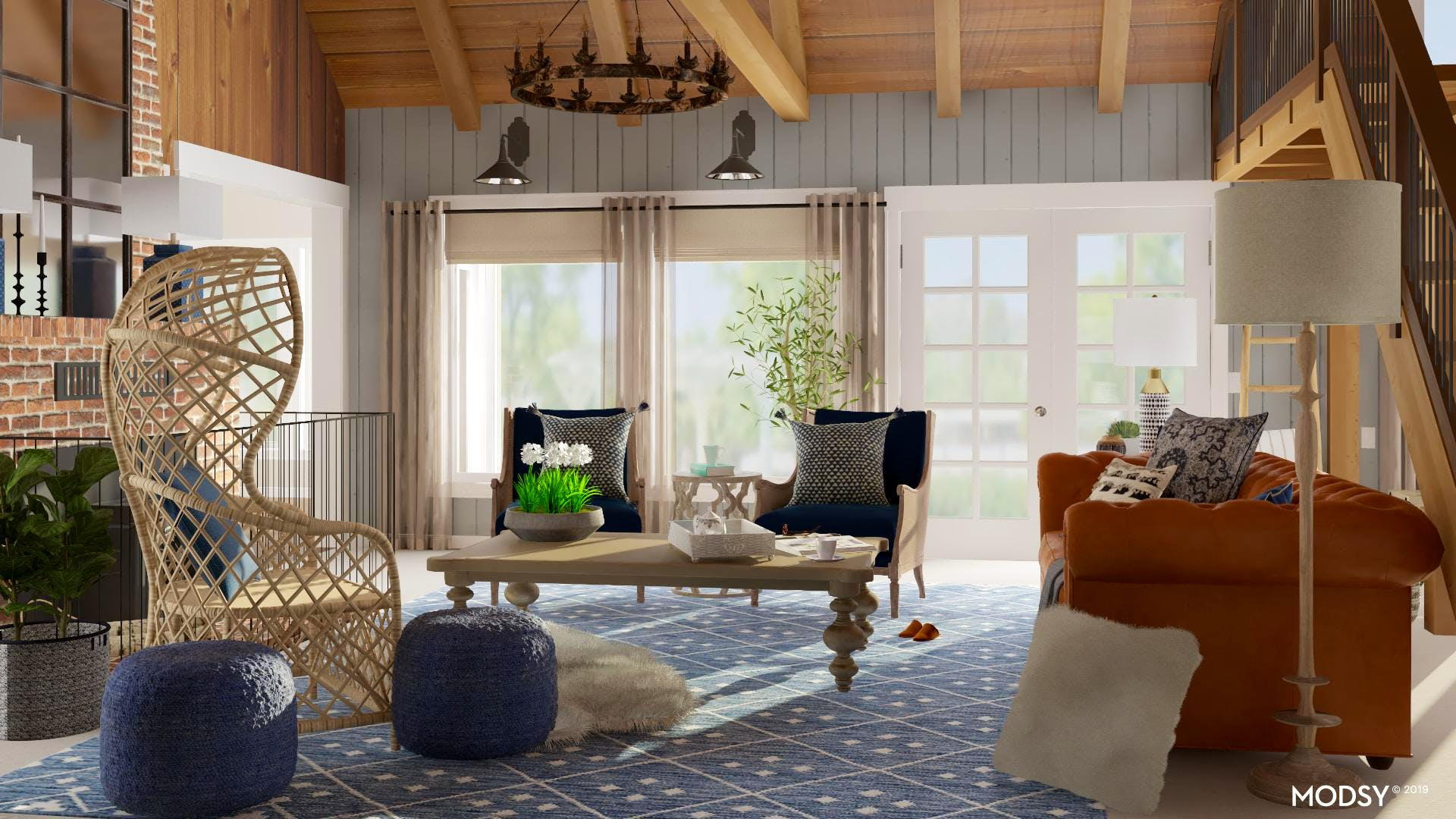 A Relaxed Rustic Living Room