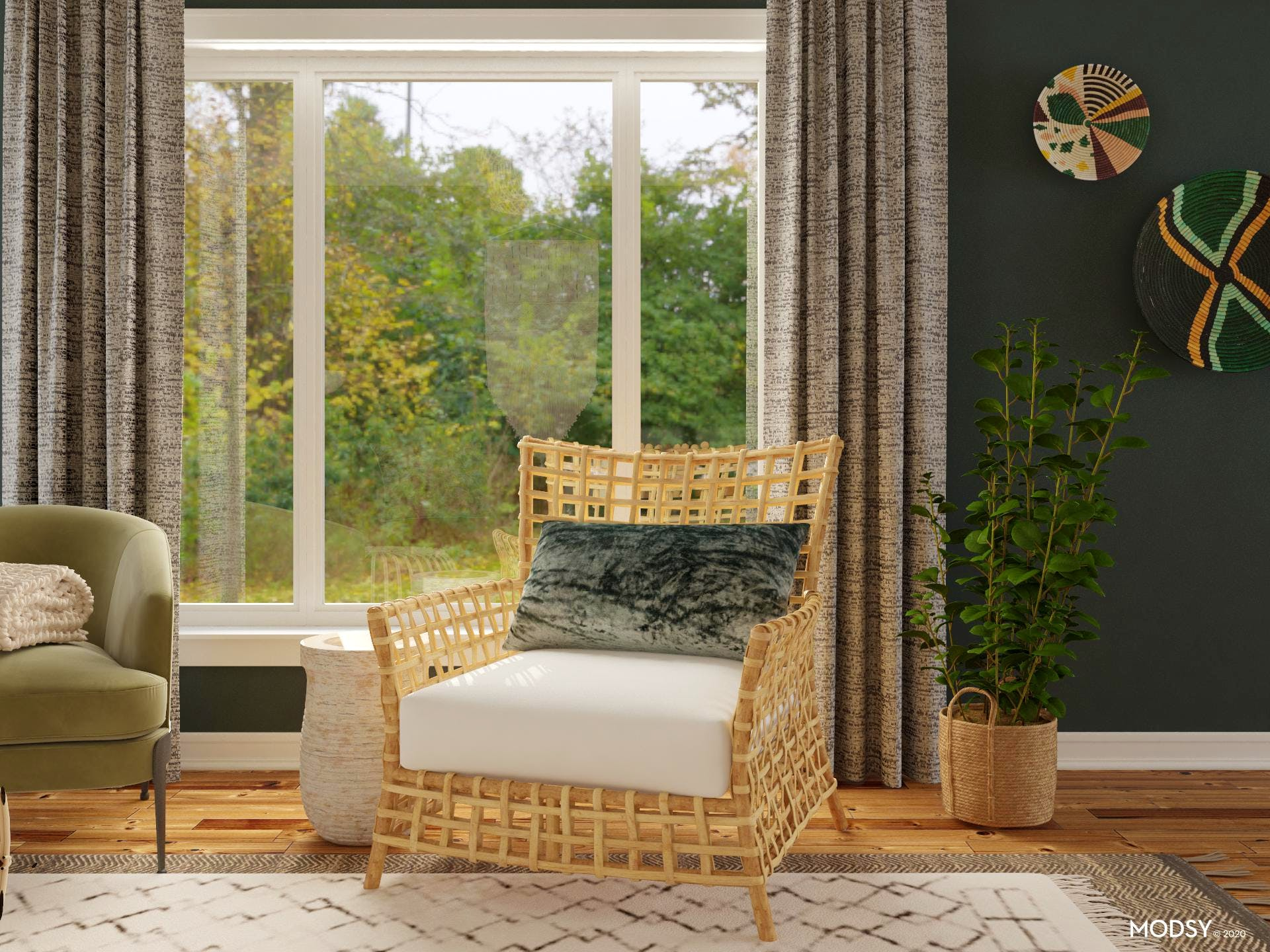 Boho Seating Nook: Fall Edition