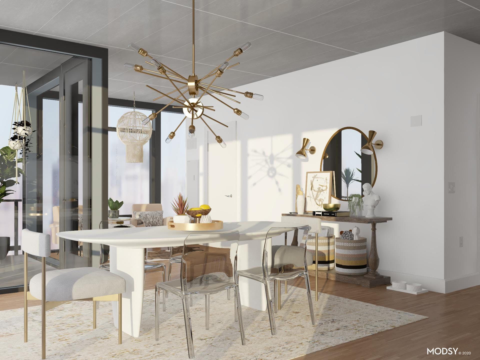 Neutral Mod Dining