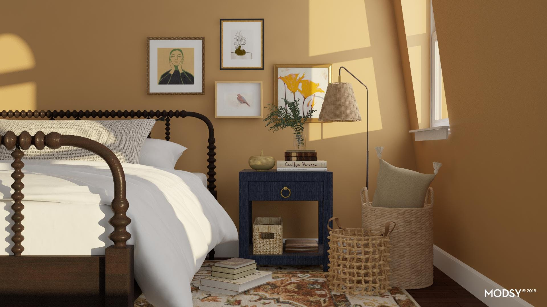 A Modern Take On A Traditional Bed Frame