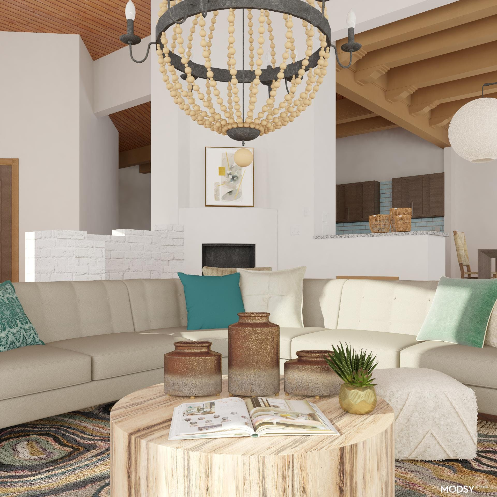 Earthy and Groovy Rustic Living Room