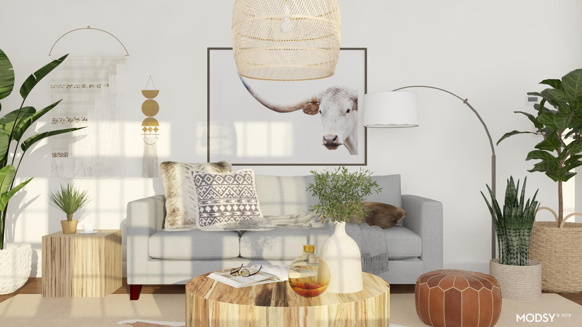 Rustic Living Room: Neutral Color Story