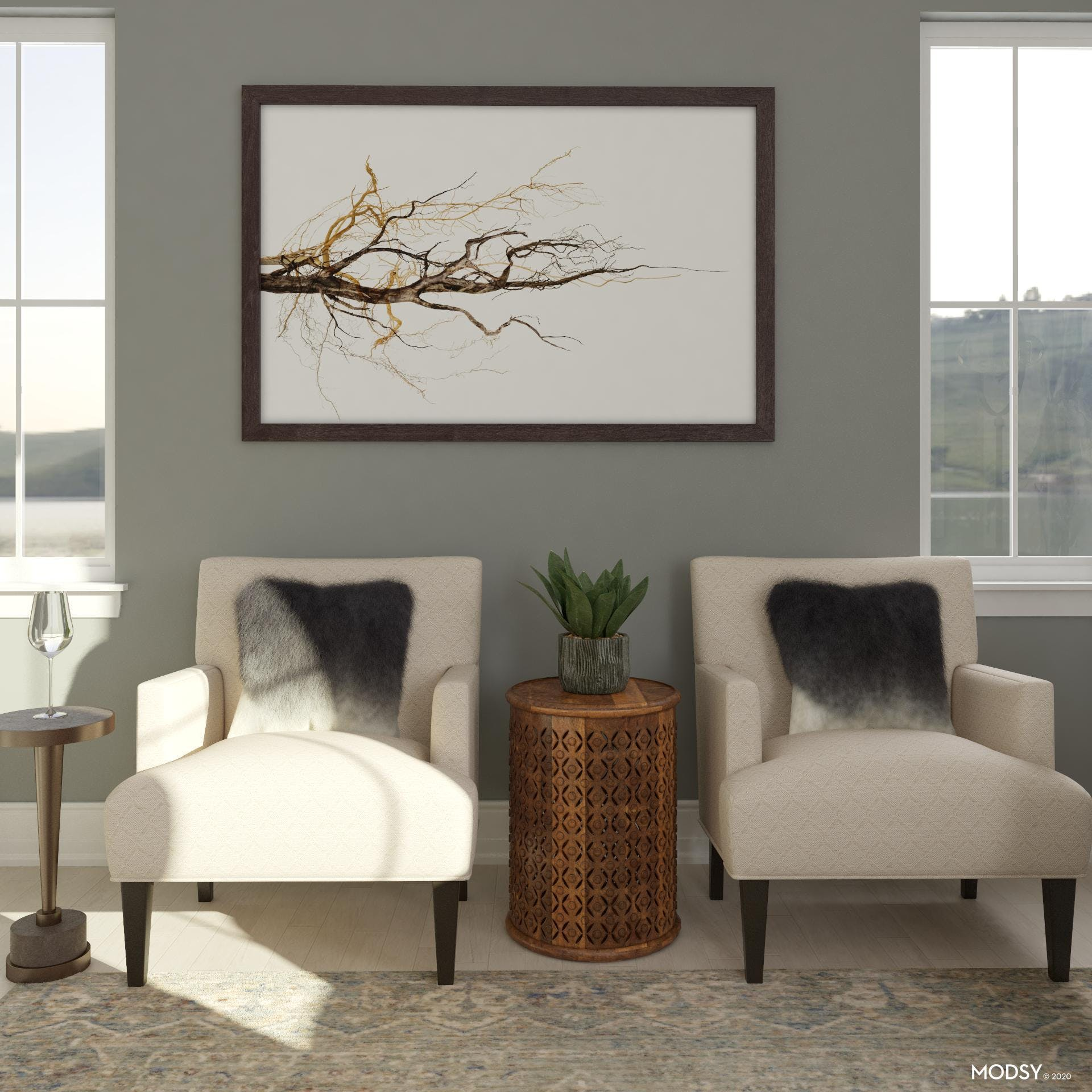 Transitional Neutral Seating
