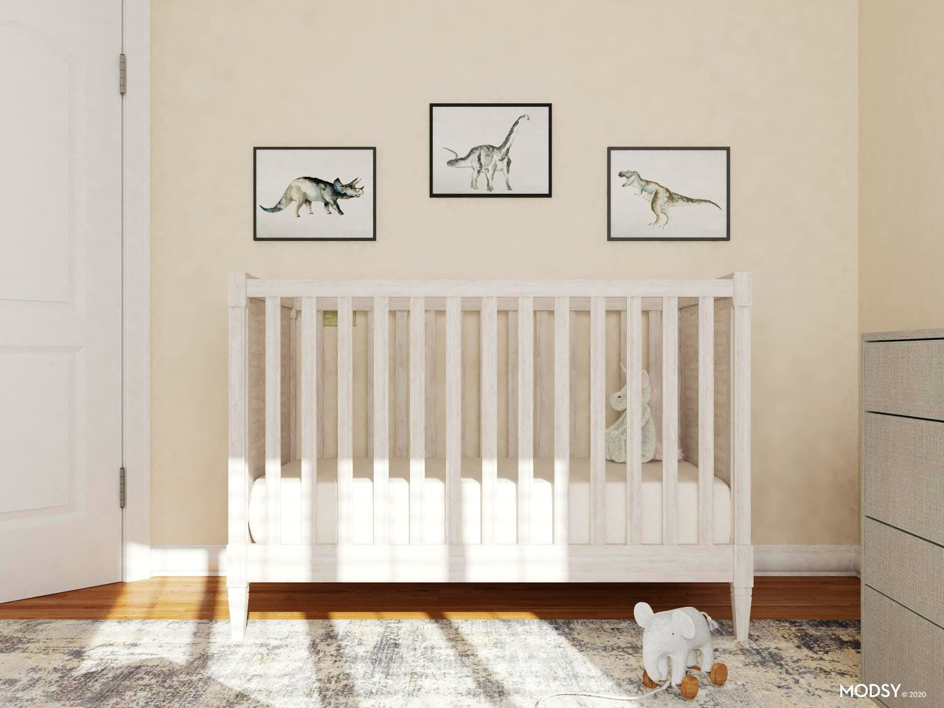 A Minimalist's Neutral Nursery