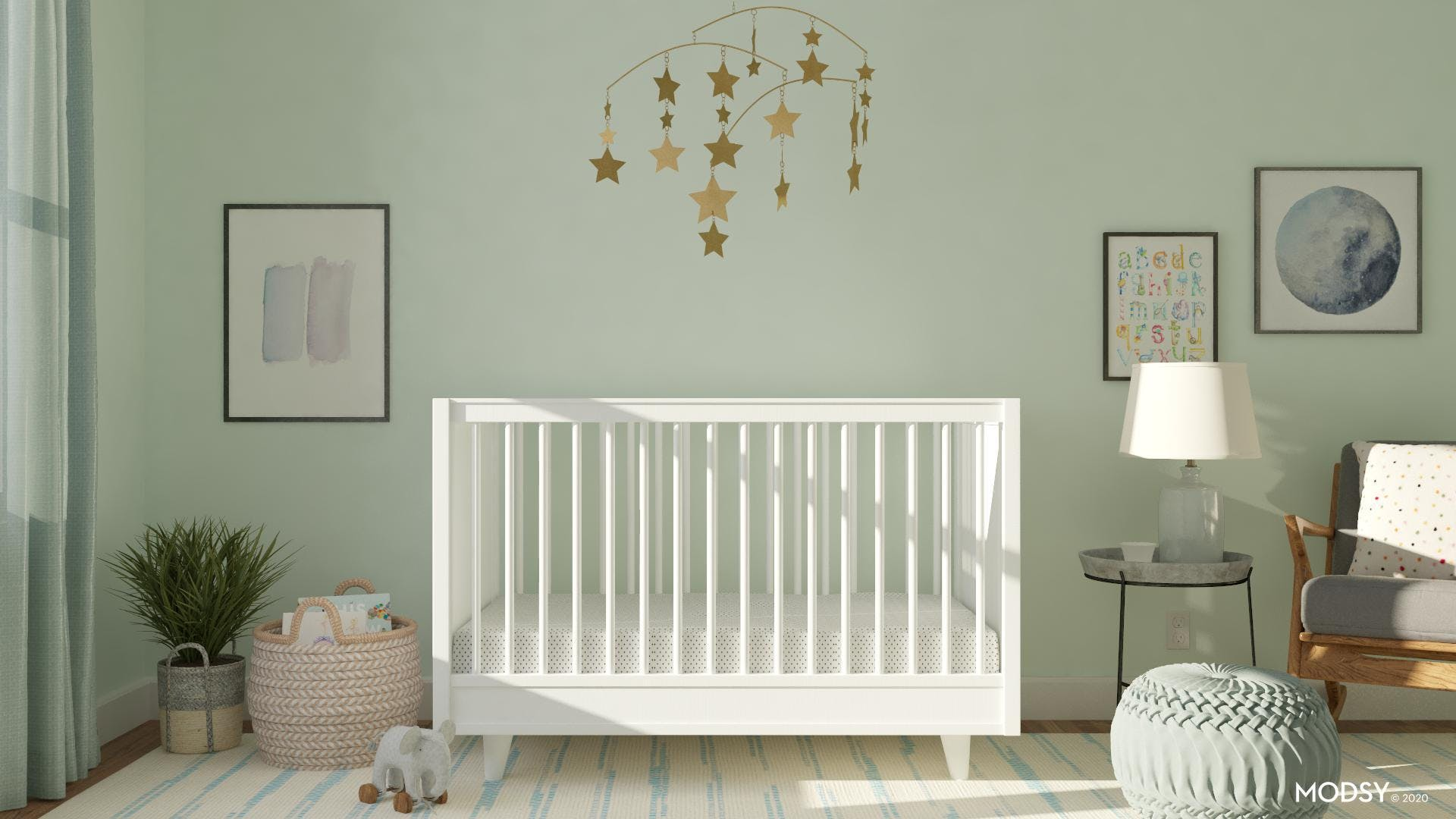 Cool and Calm in Minimalist Nursery