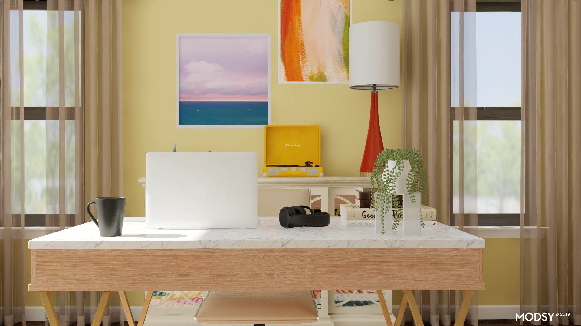 Transitional Style Home Office Design Ideas