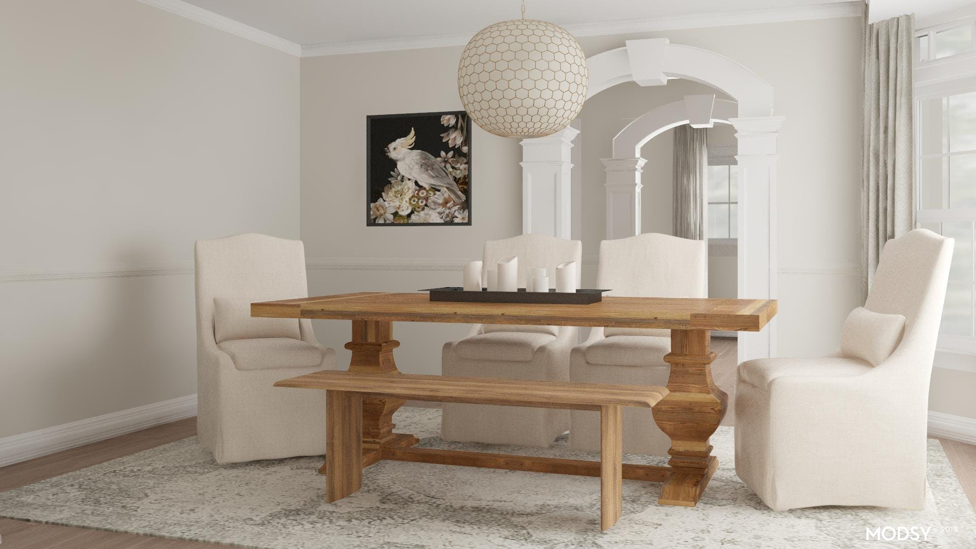 Neutral Dining Room with a Fun Twist!