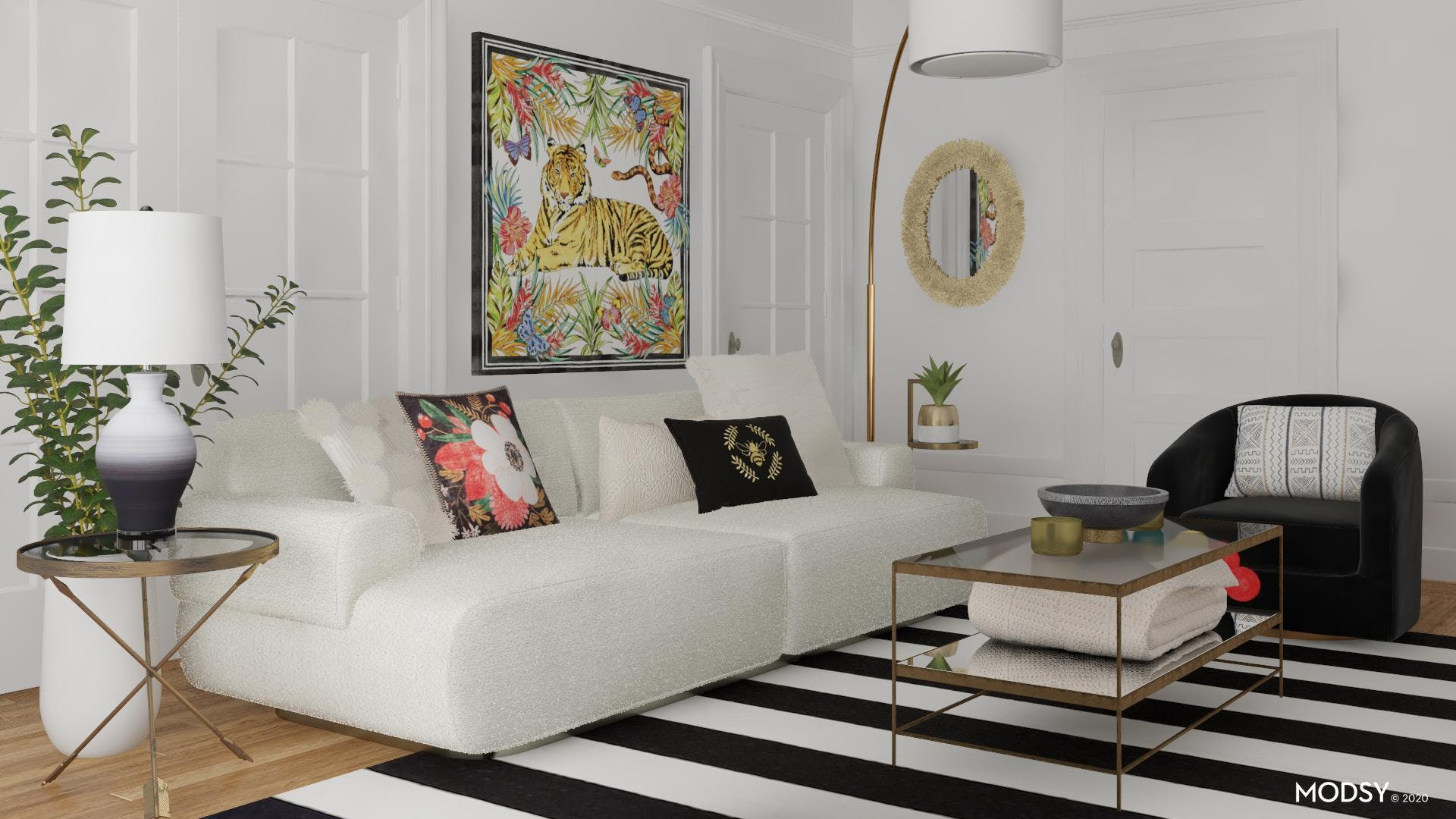 Glam Living Room: Textures