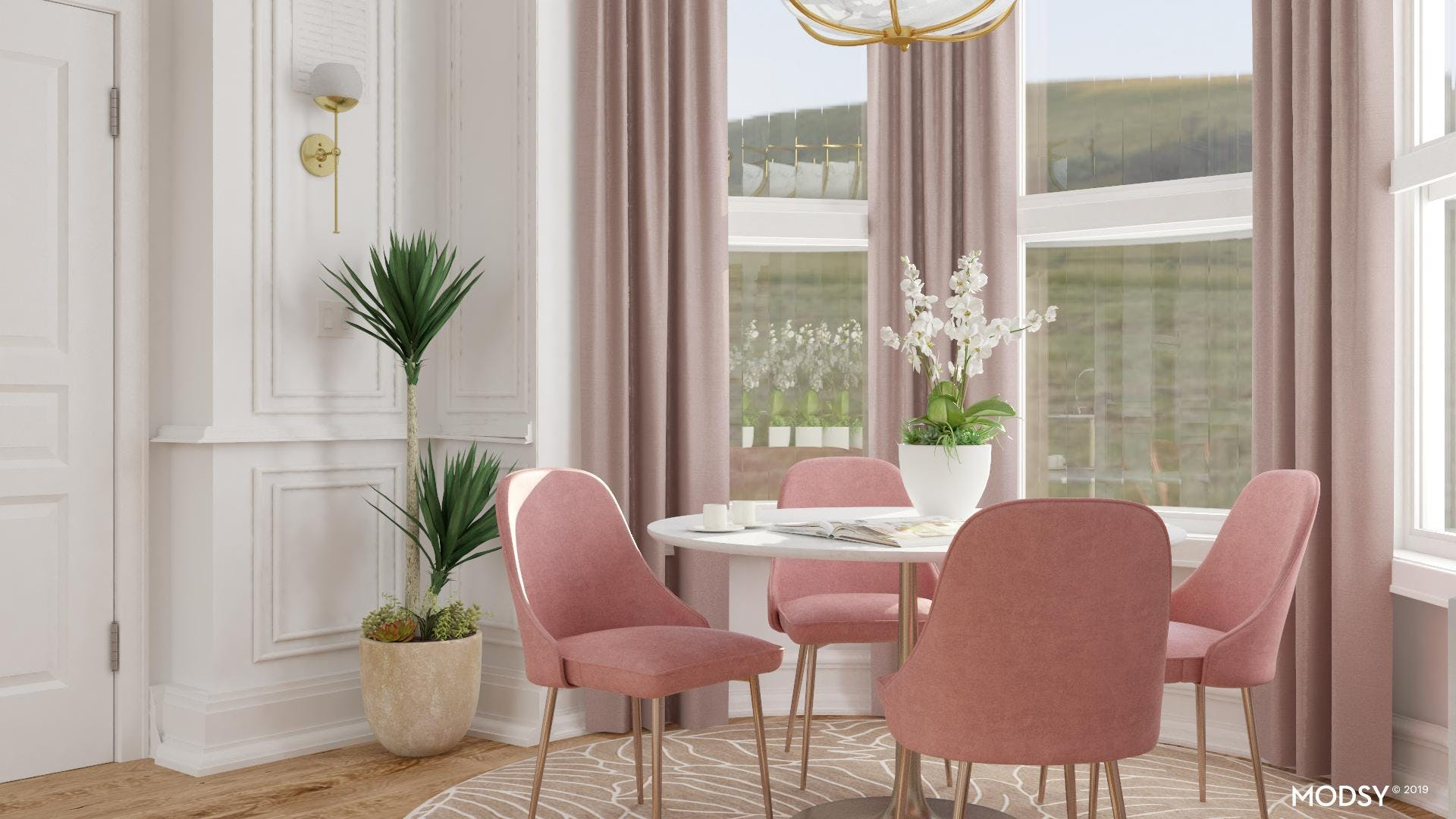 Glam Dining In Pink Palette