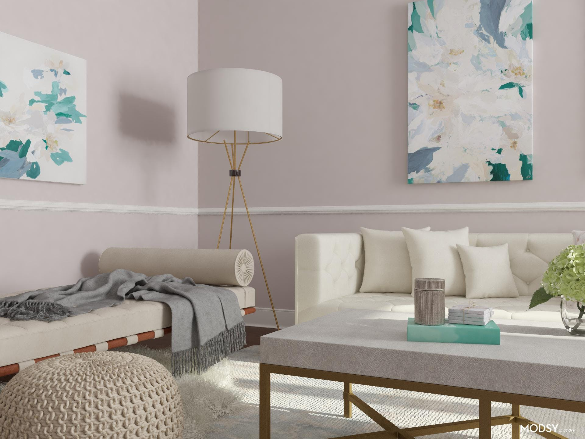 Lounge In Style: Glam Living Room