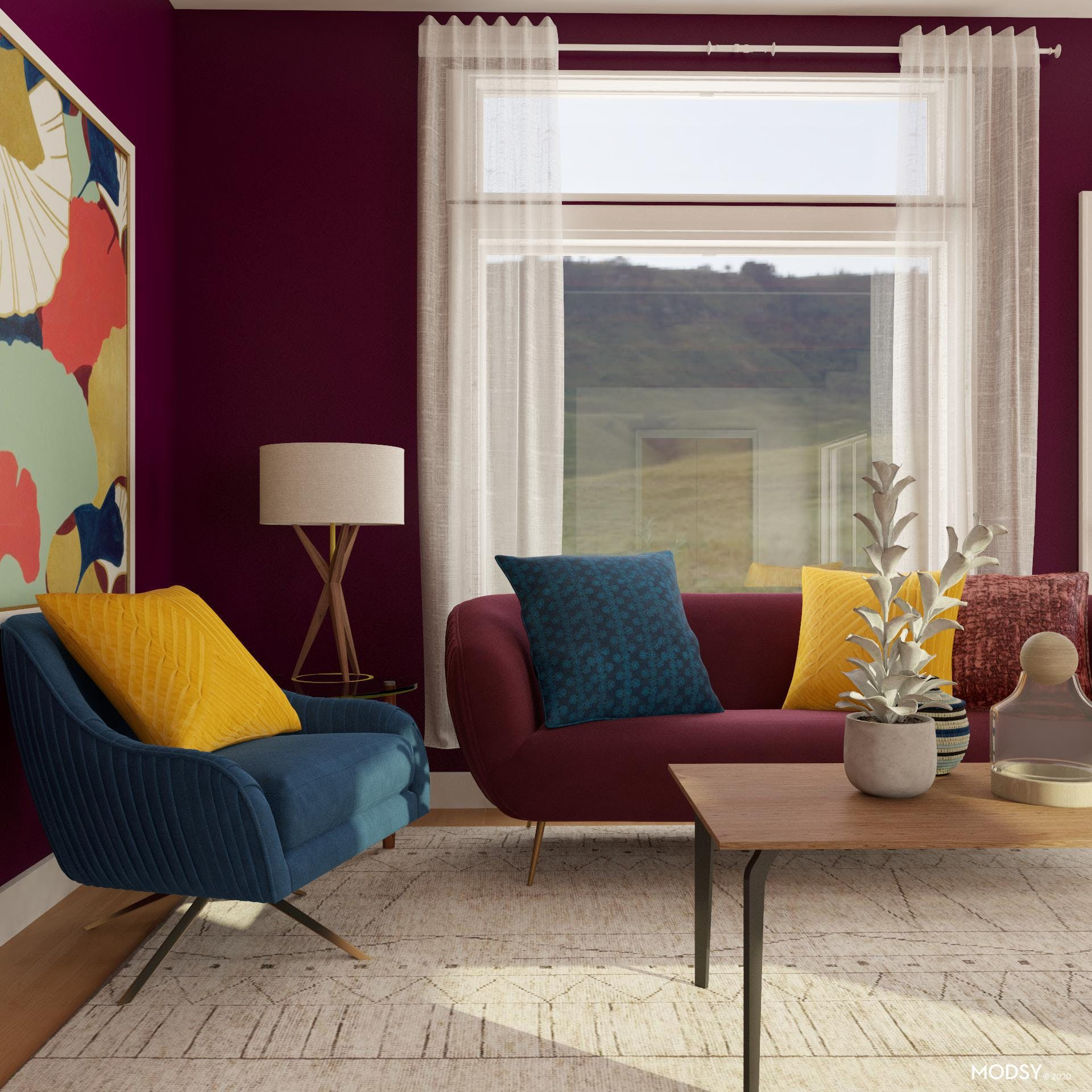 Sapphire, Ruby & Gold: Living Room