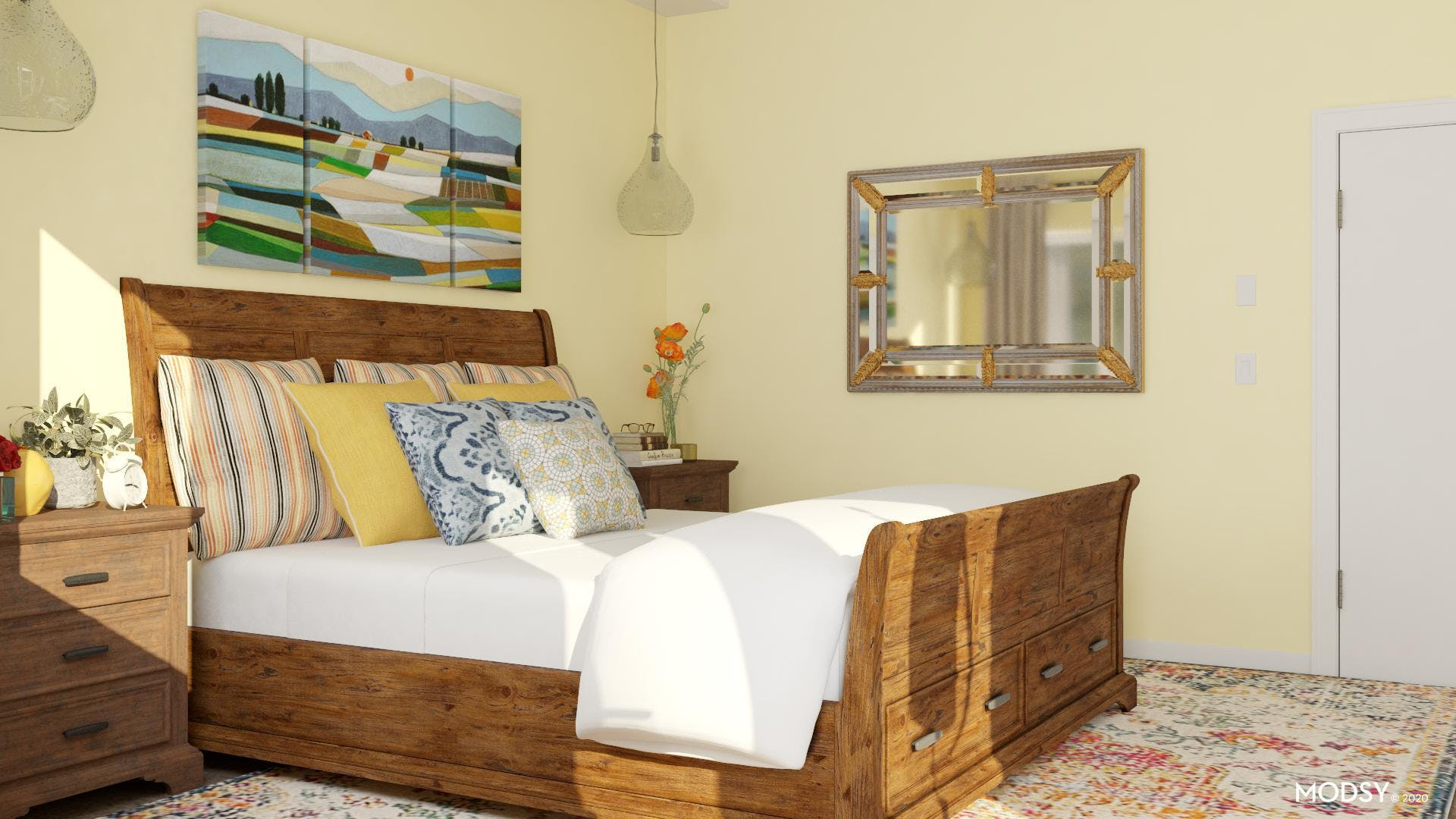 Bright and Beautiful Traditional Bedroom