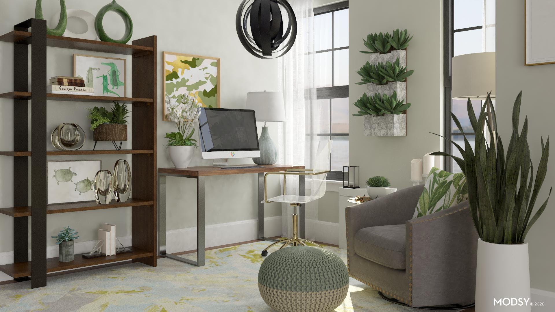Greenery Brings Office to Life