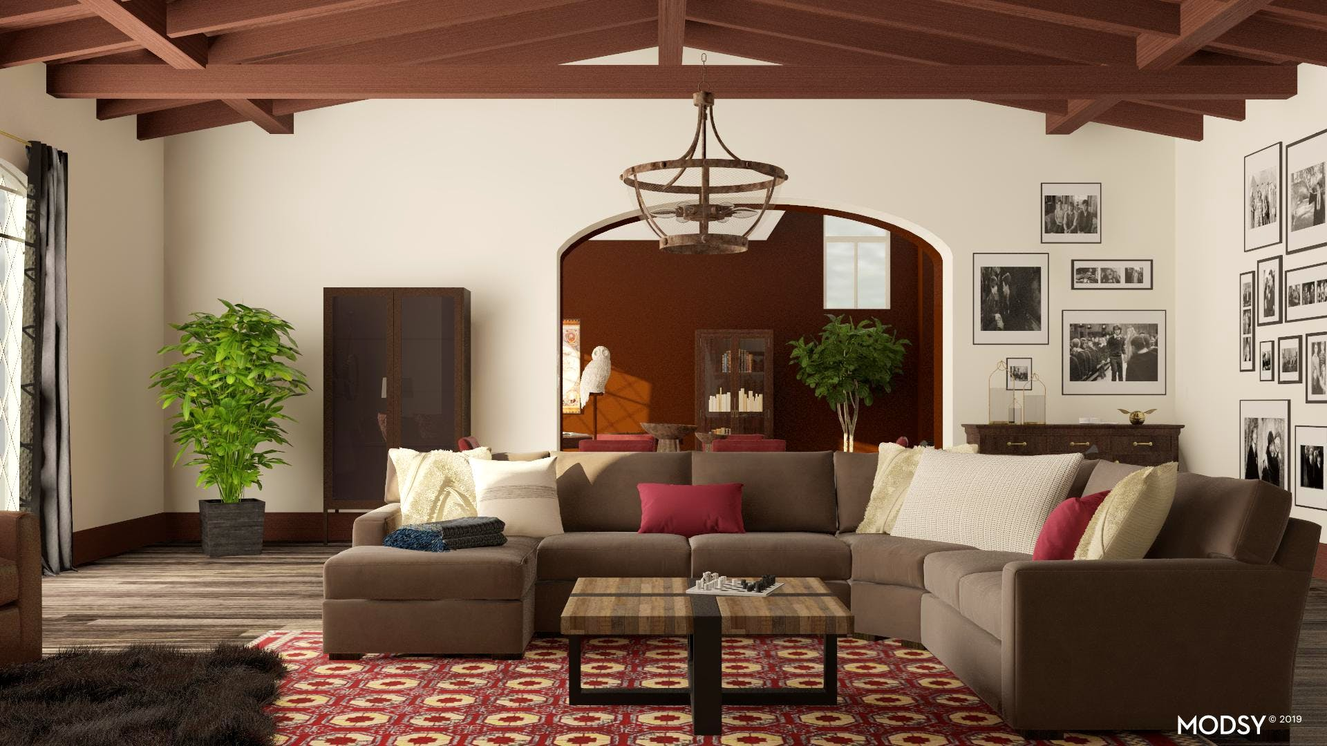 Updated Traditional Living Room
