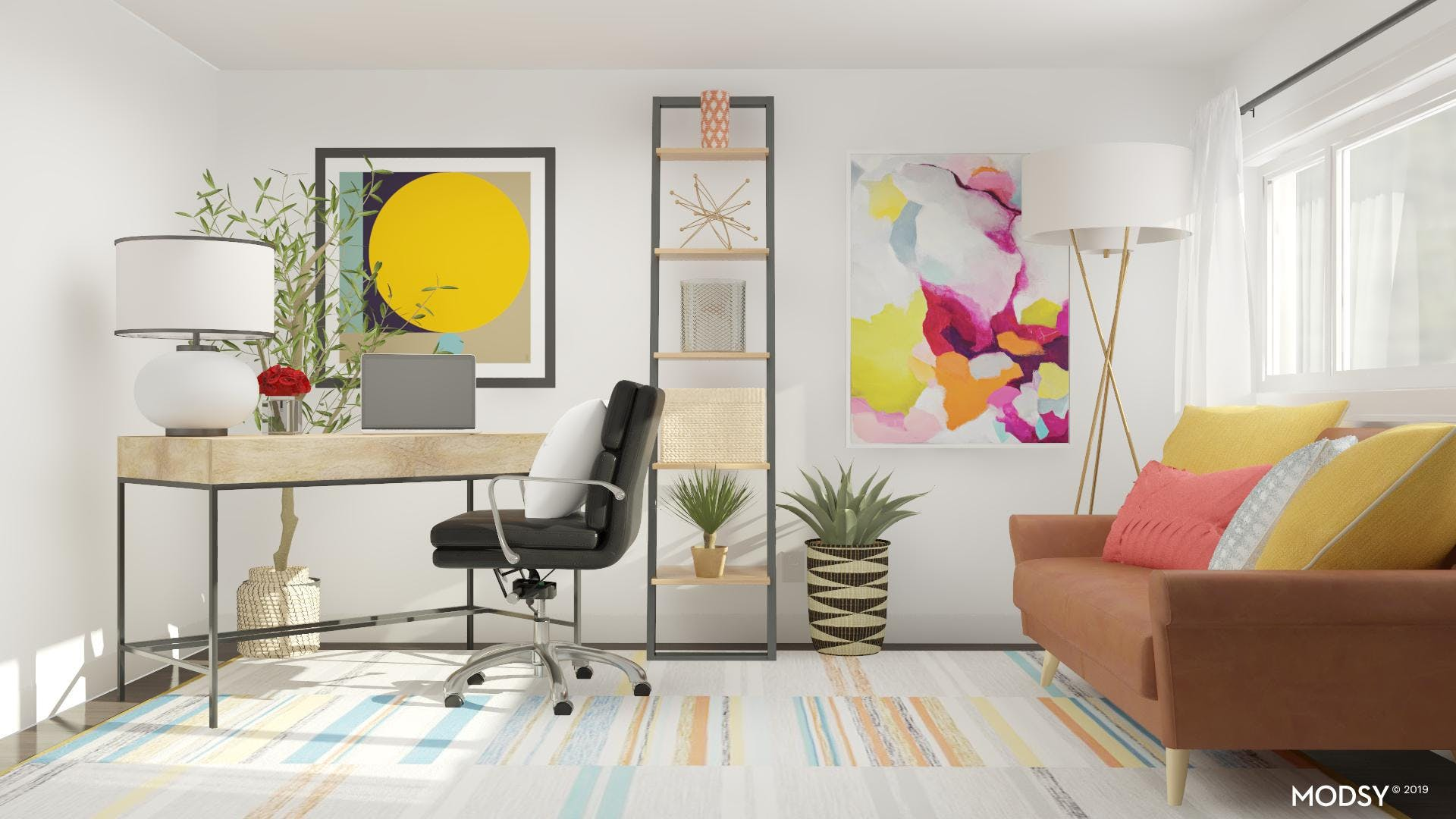 Modern Office With A Pop