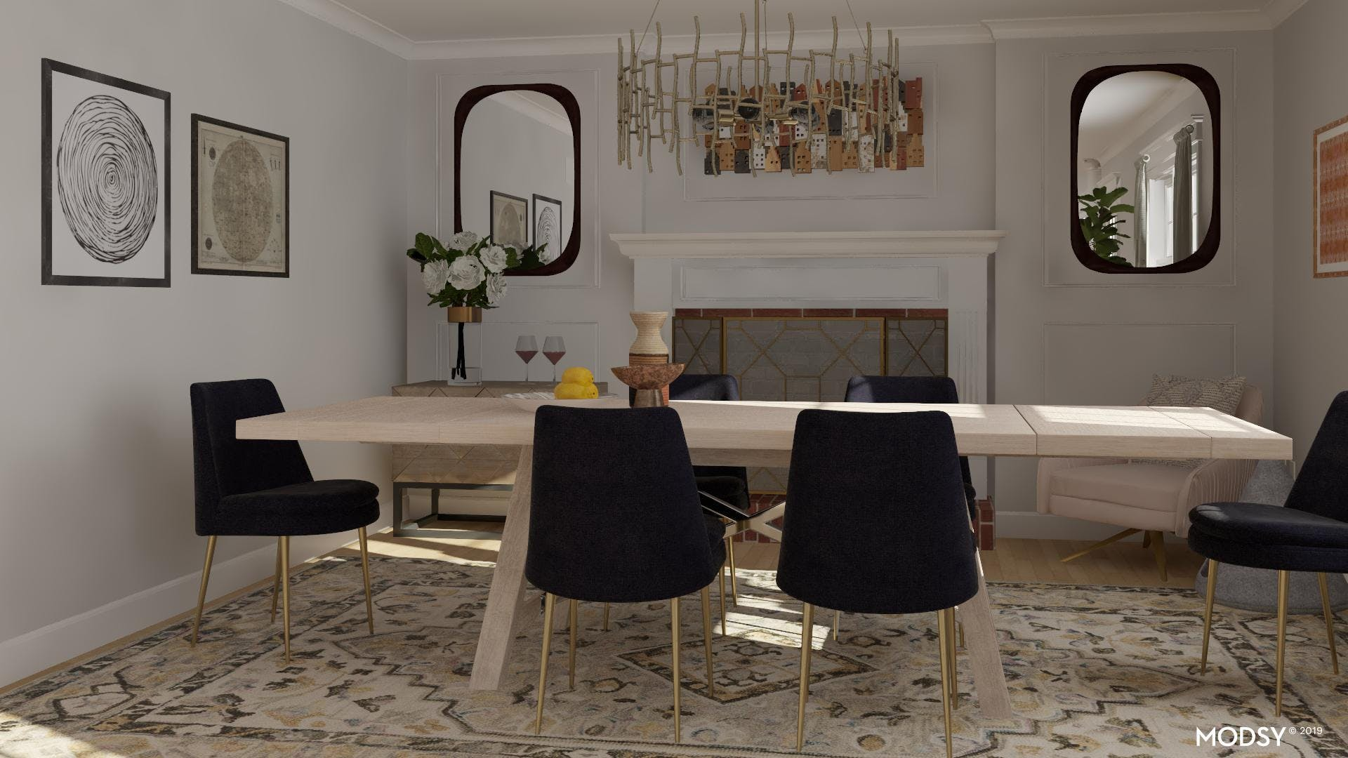 Modern Symmetry: Dining Room