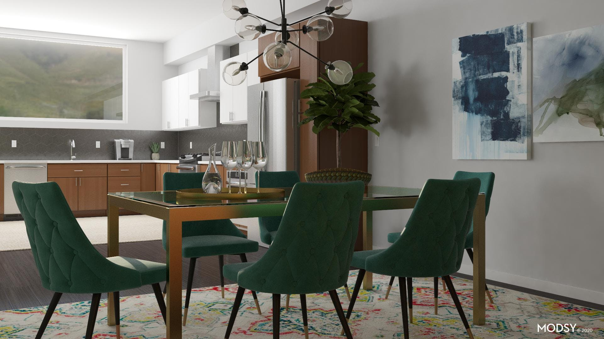 Outside In: Mid Century Dining Room