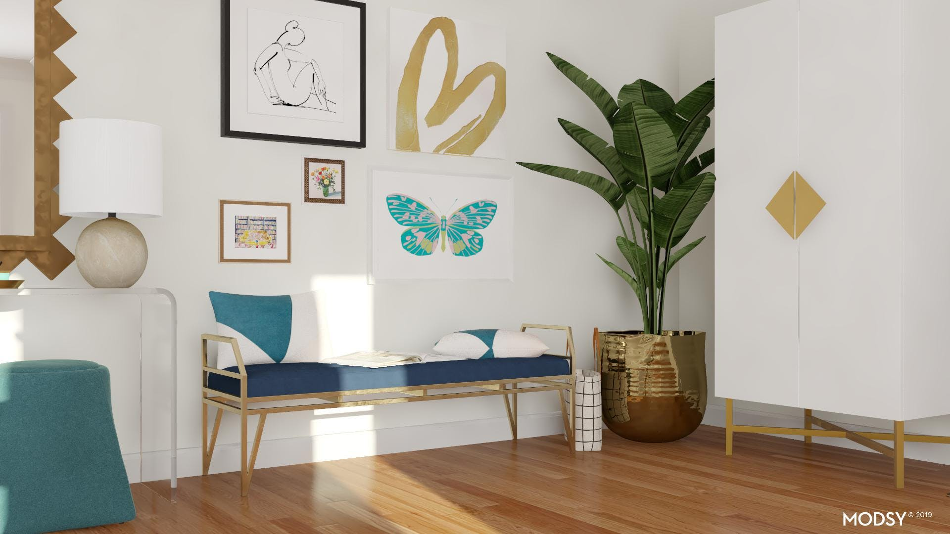 Gallery Wall For A Modern Entry