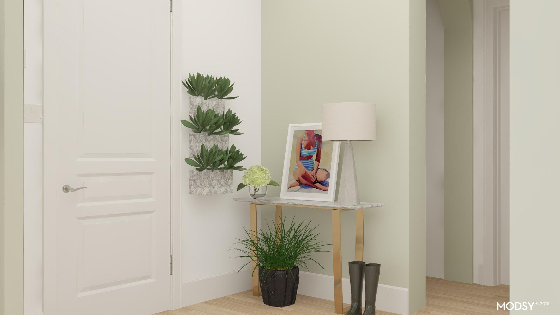 Entry Vignettes: Green And Gold