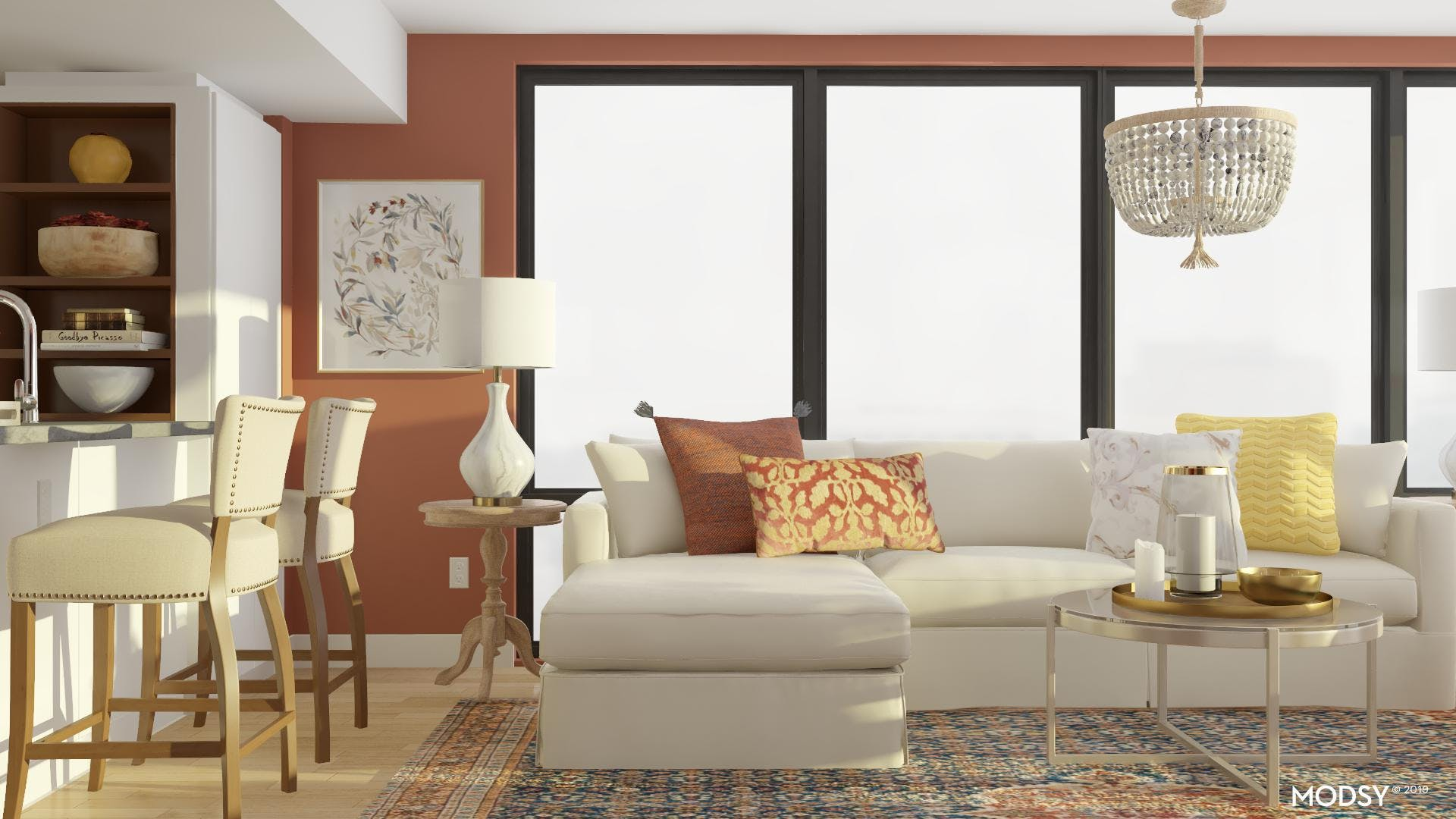 Traditional Layering: Living Room