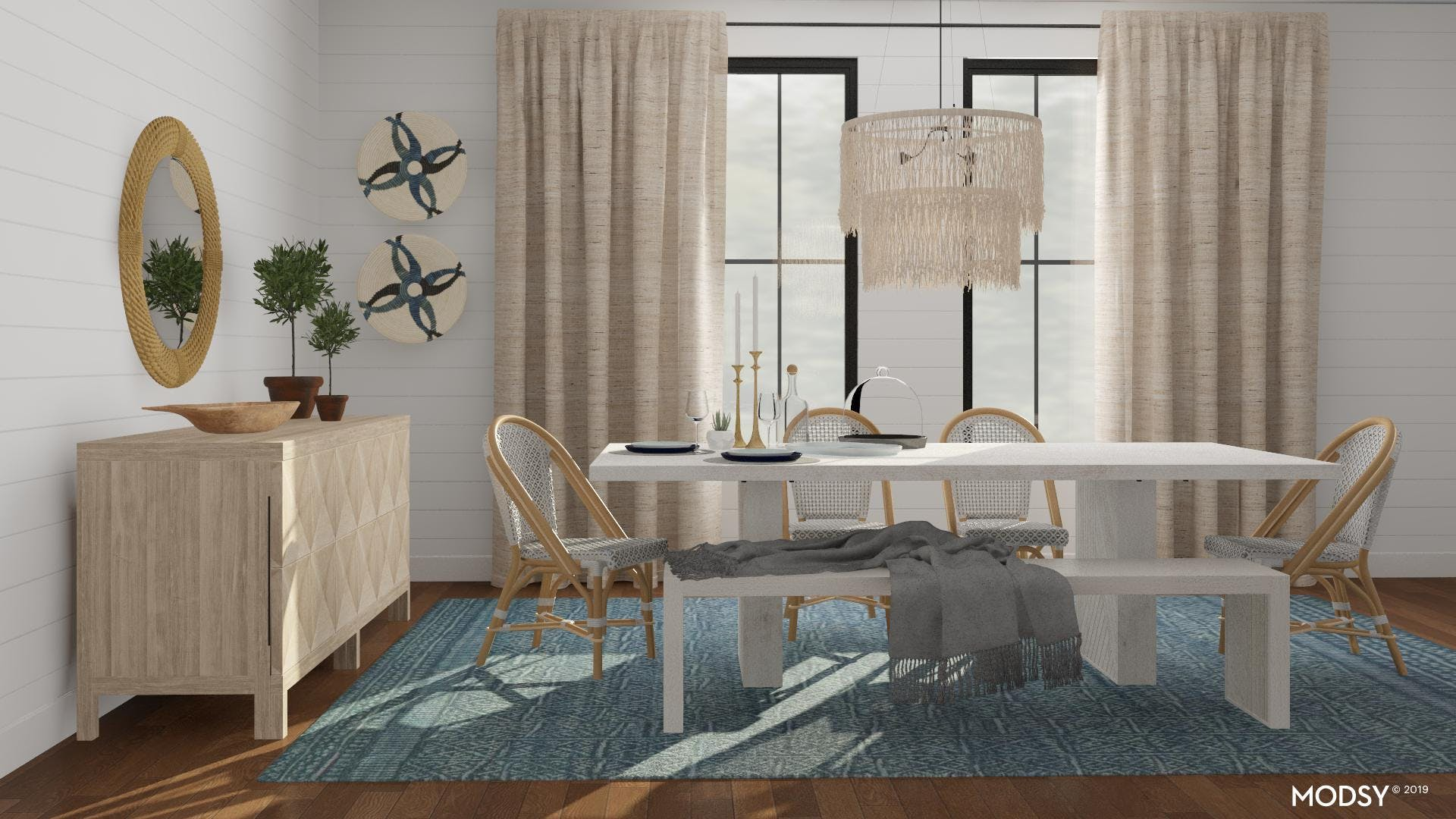 A Rustically Blue Dining Room