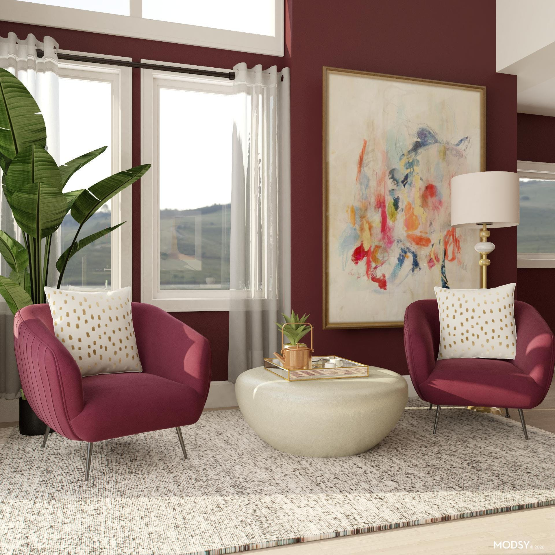 Glamorous Office Seating with a Touch of Jewel-tones
