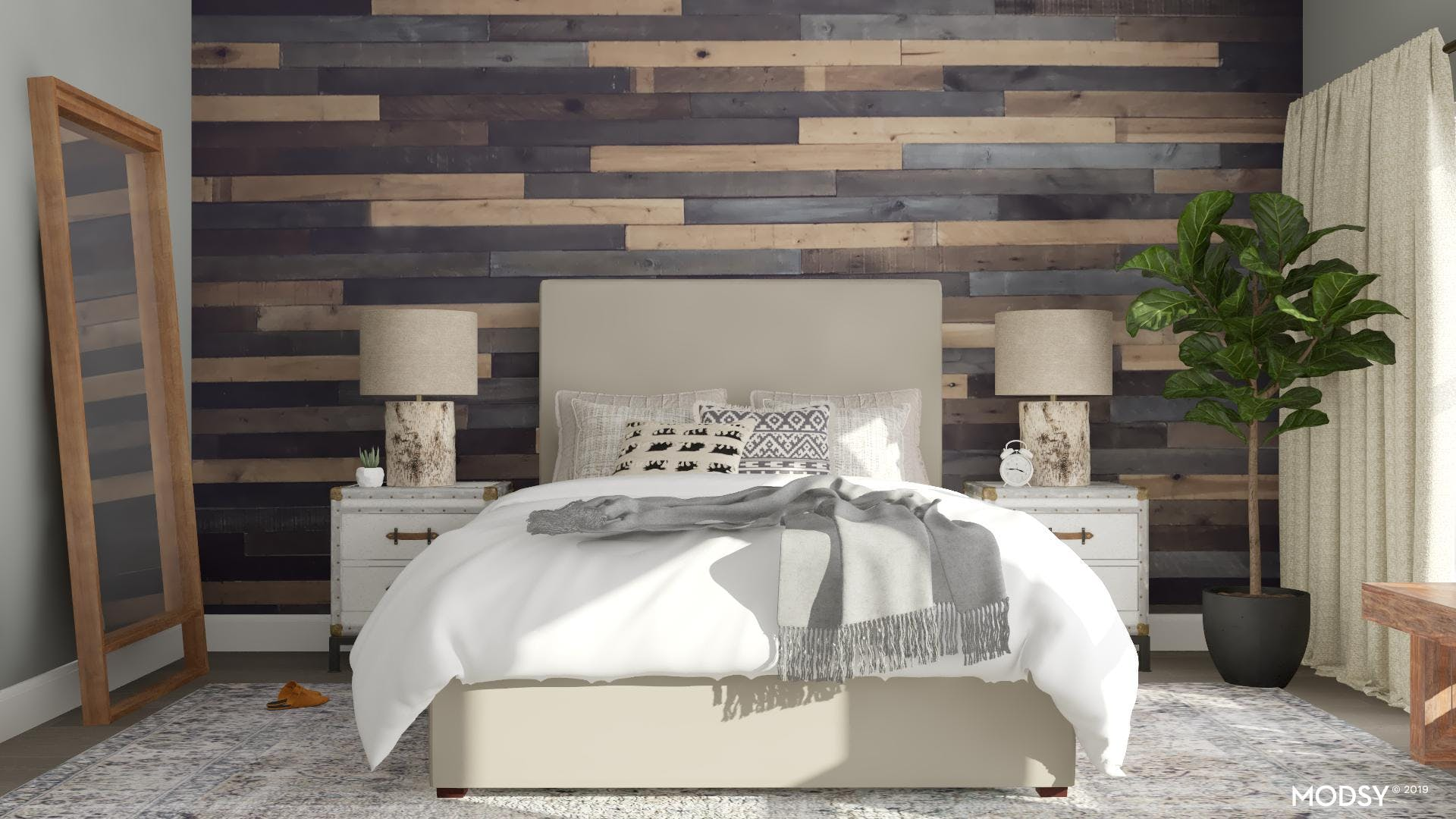 A Rustic Bedroom With Soothing Neutrals