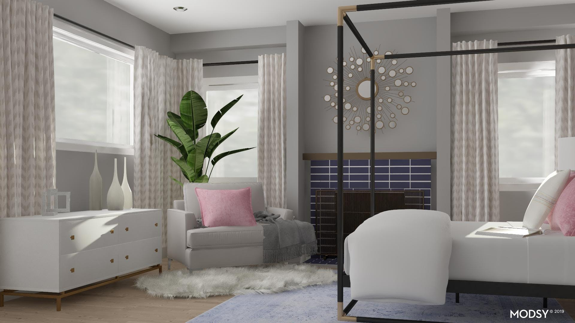 Contemporary Bedroom in Pastels