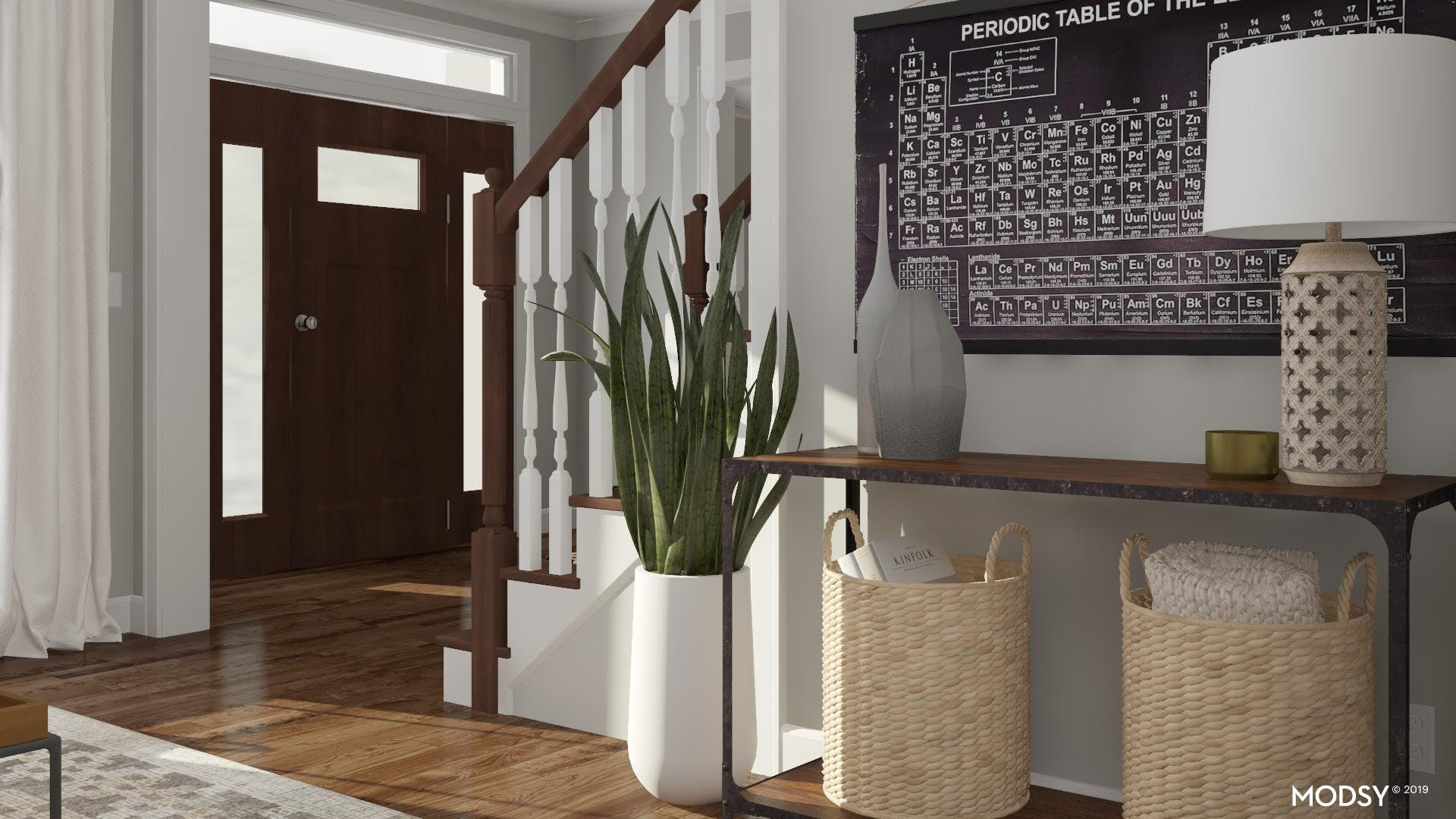 A Photo-Worthy Living Room Console Table