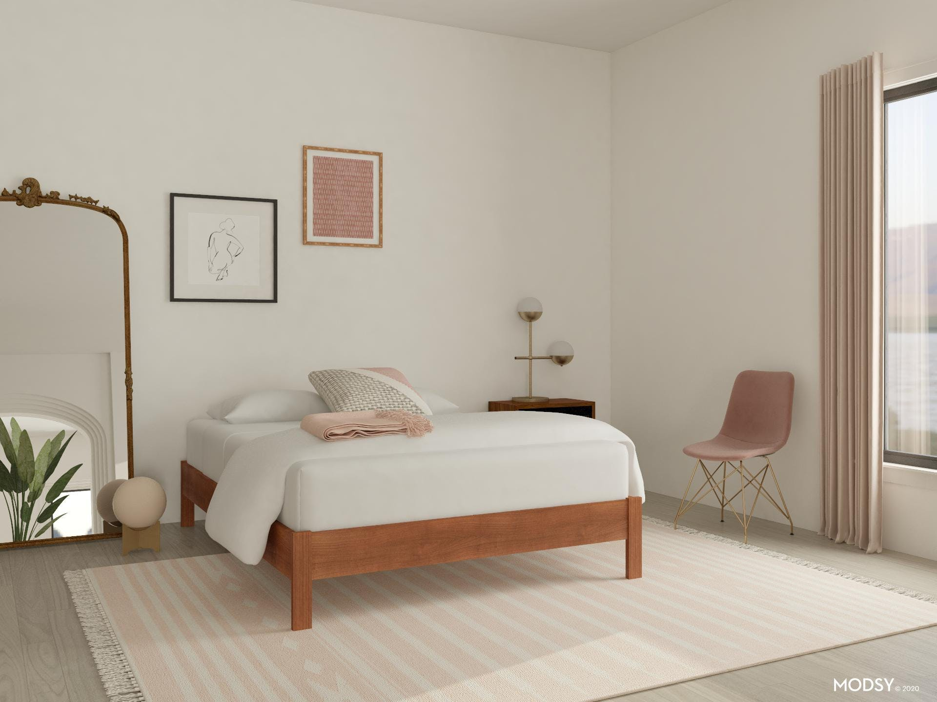 How to do a Pink Bedroom the Minimal Way