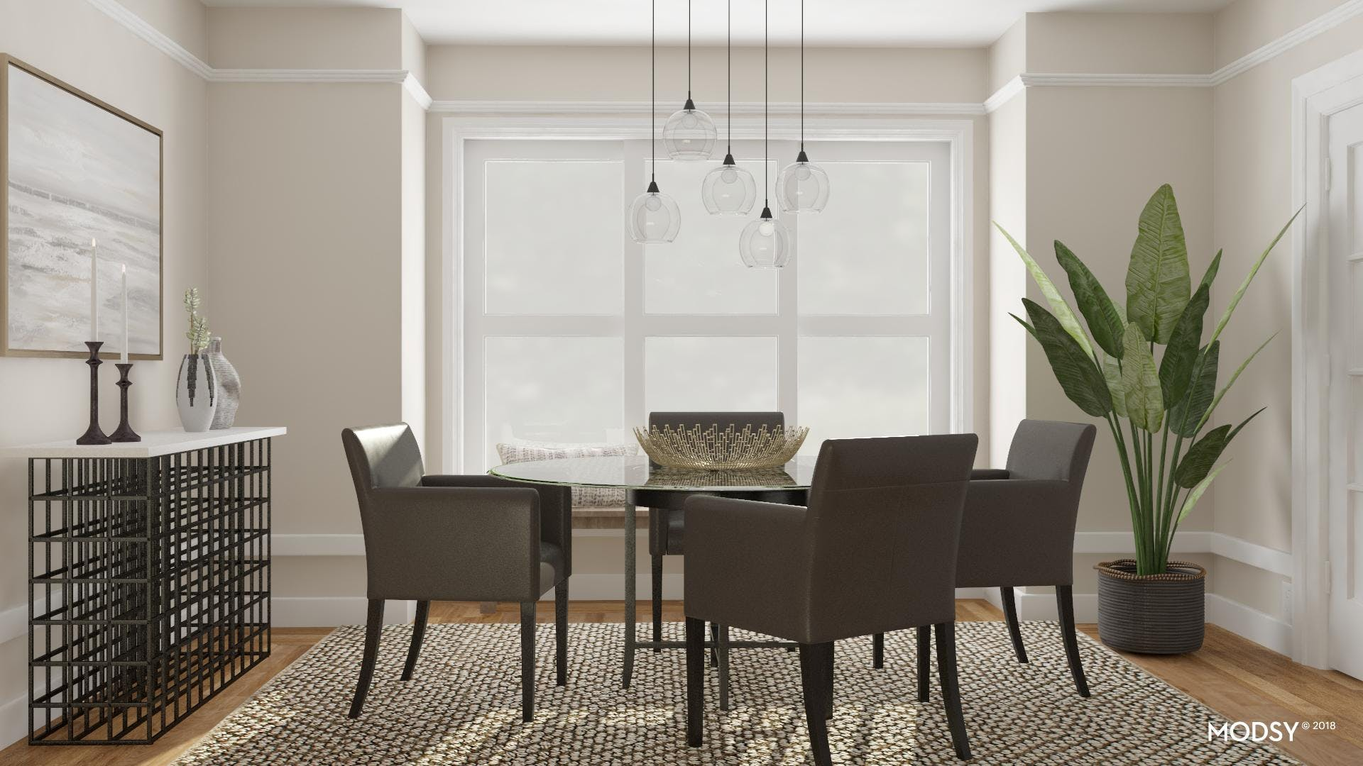 Contemporary Dining Room With A Trad Nod