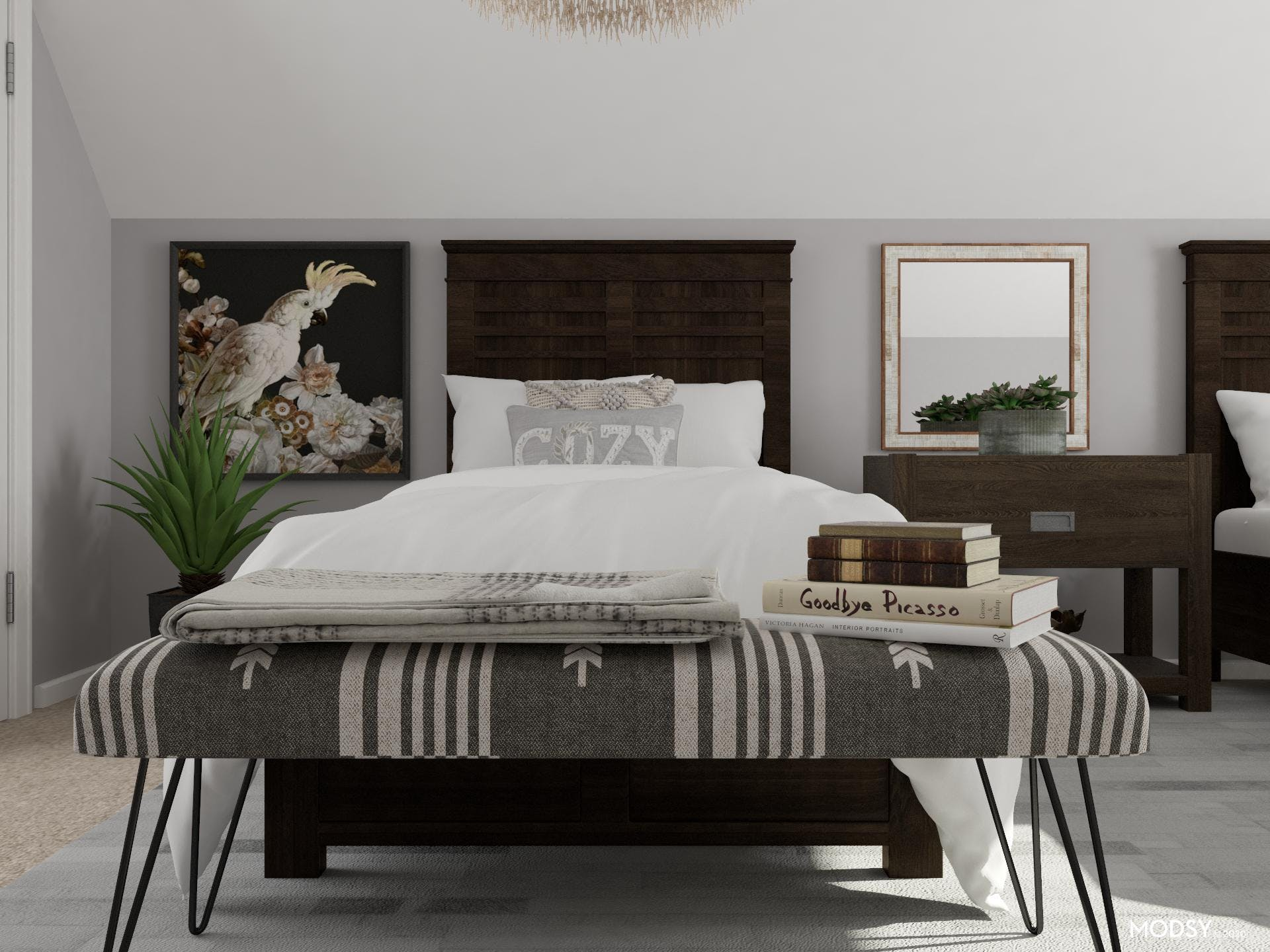 An Eclectic Bedroom Awaits Your Guests