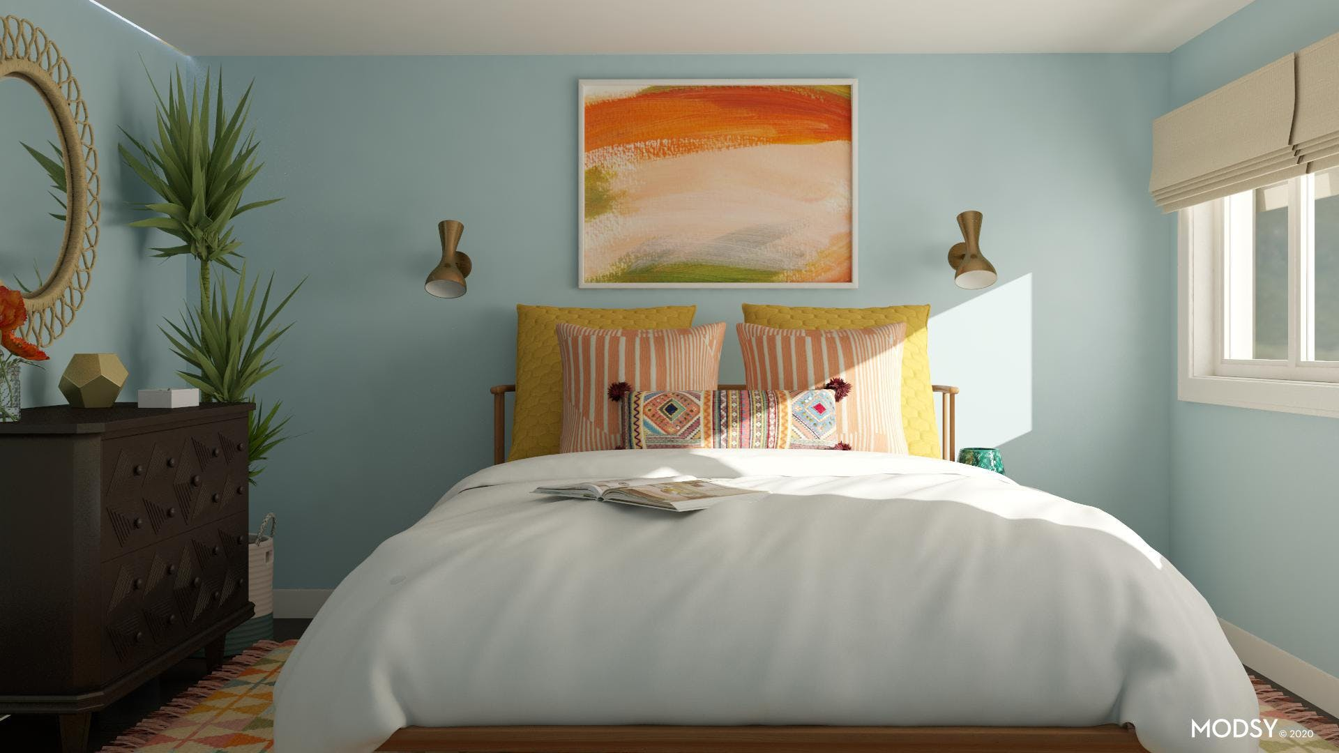 Bright Multicolored Eclectic Bedroom