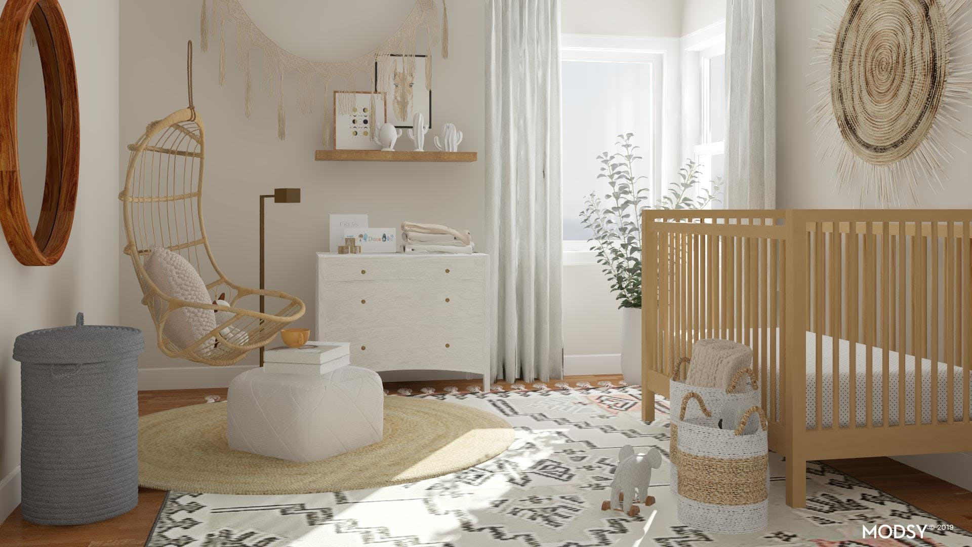 Eclectic Nursery With A Neutral Touch