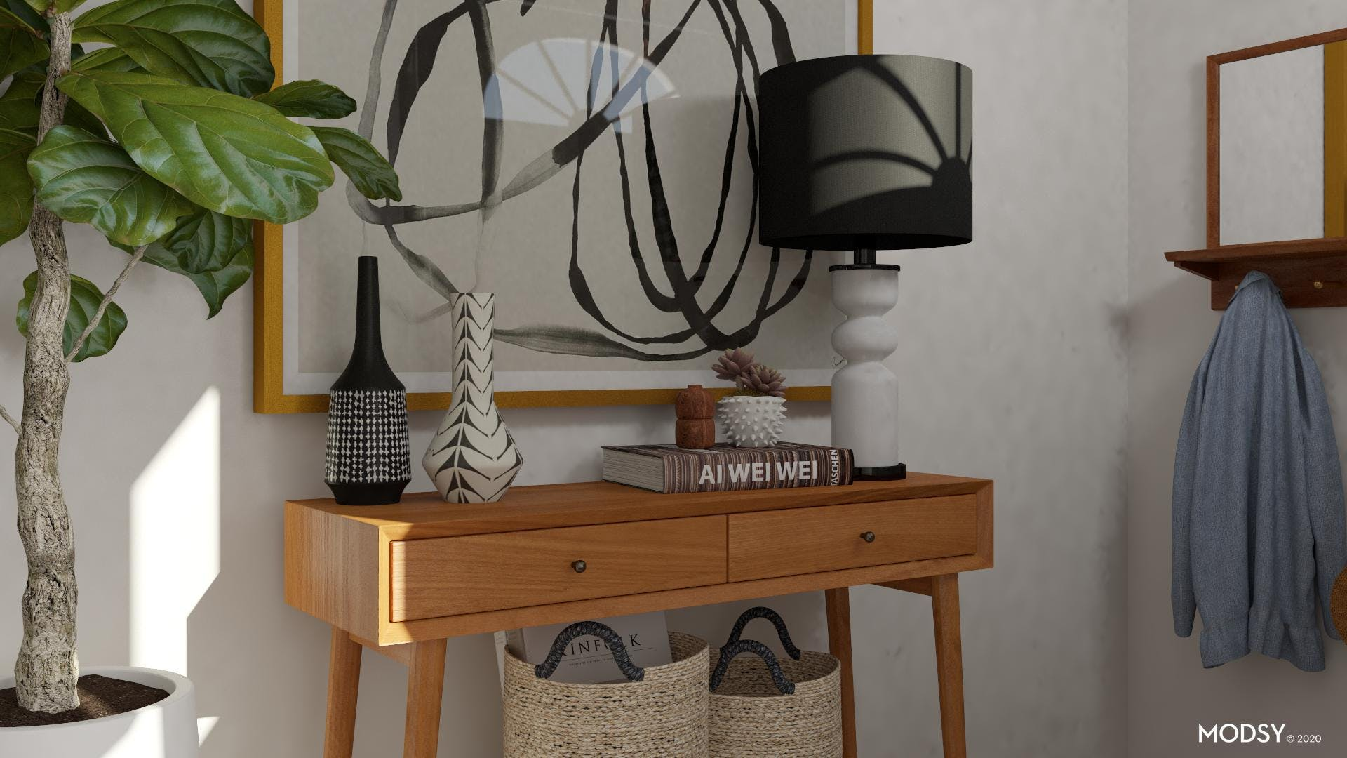 Mid-Century Entry Style