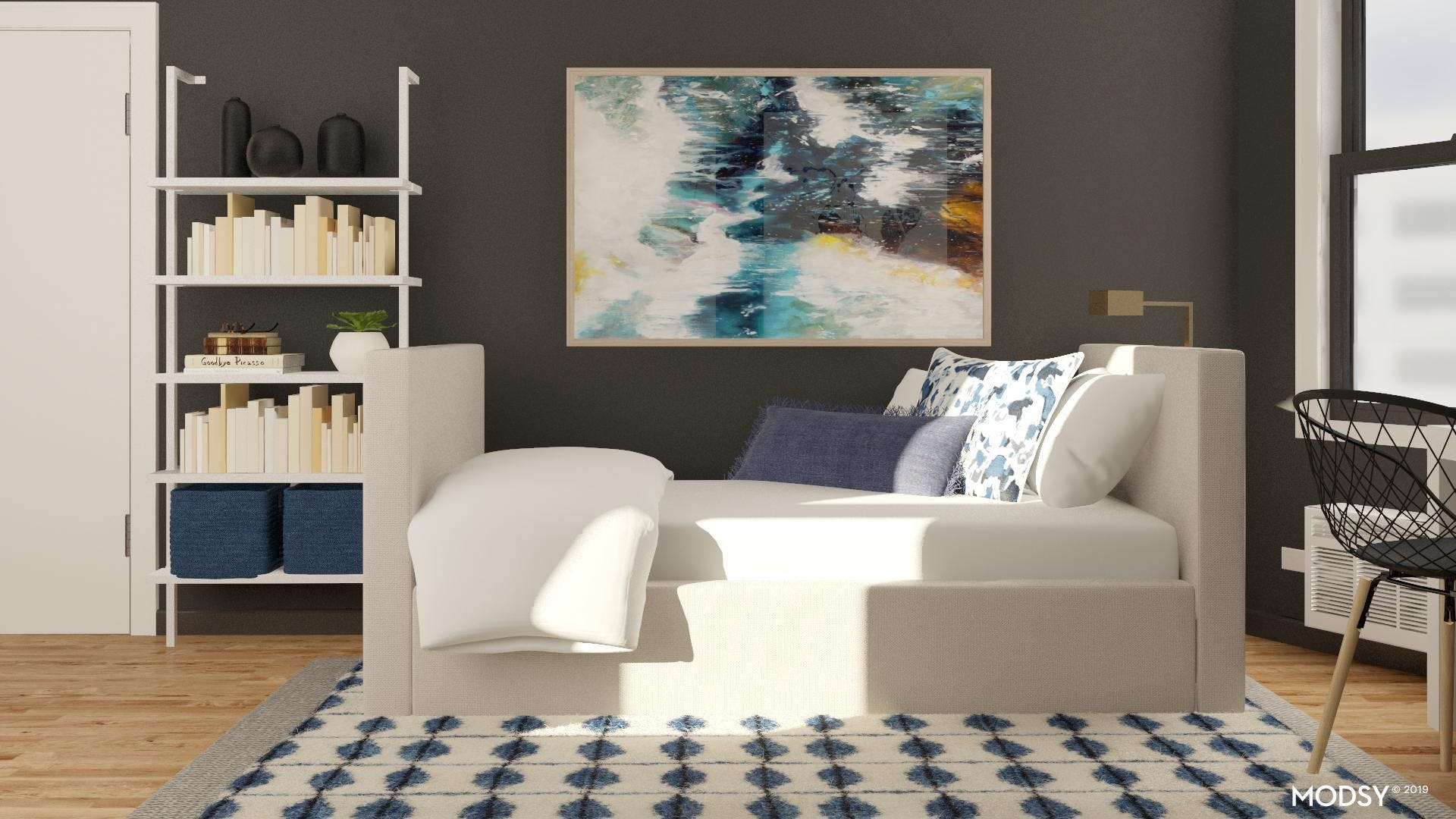 Contemporary Guest Room Office Combo