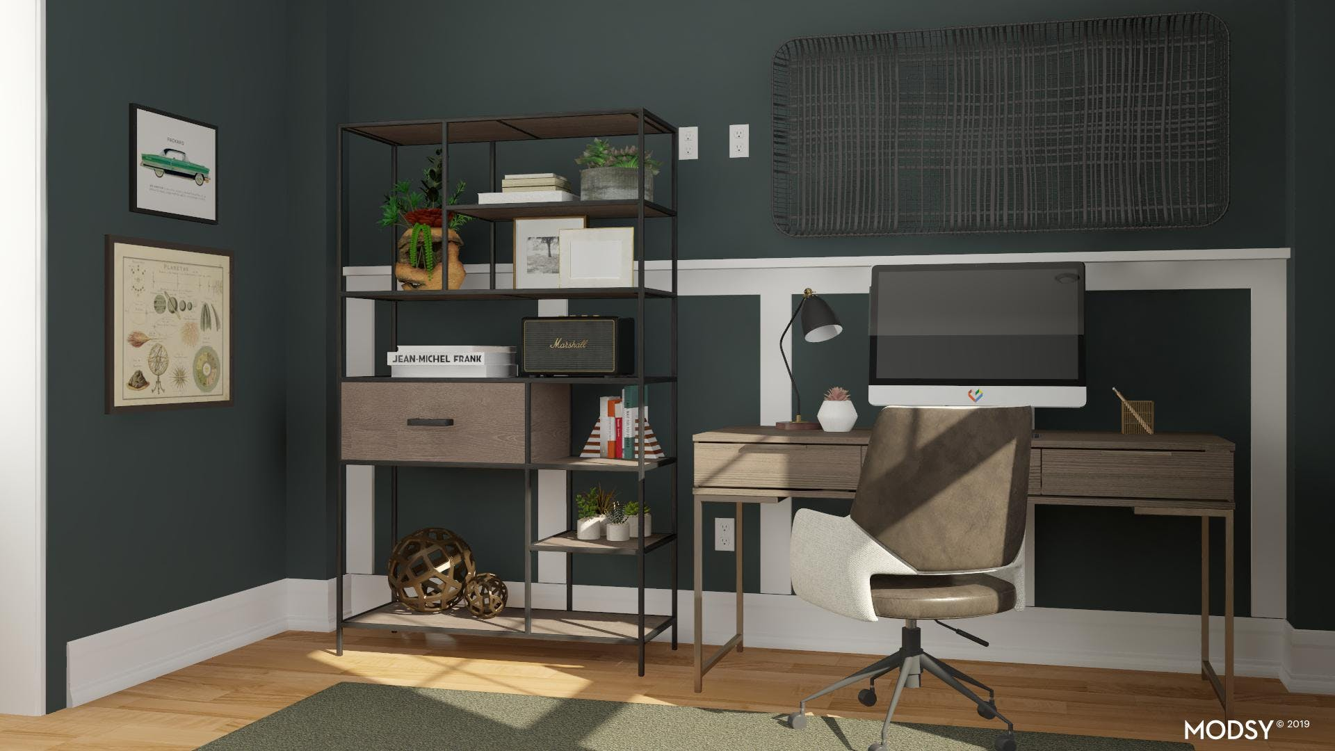 Office with Industrial Details