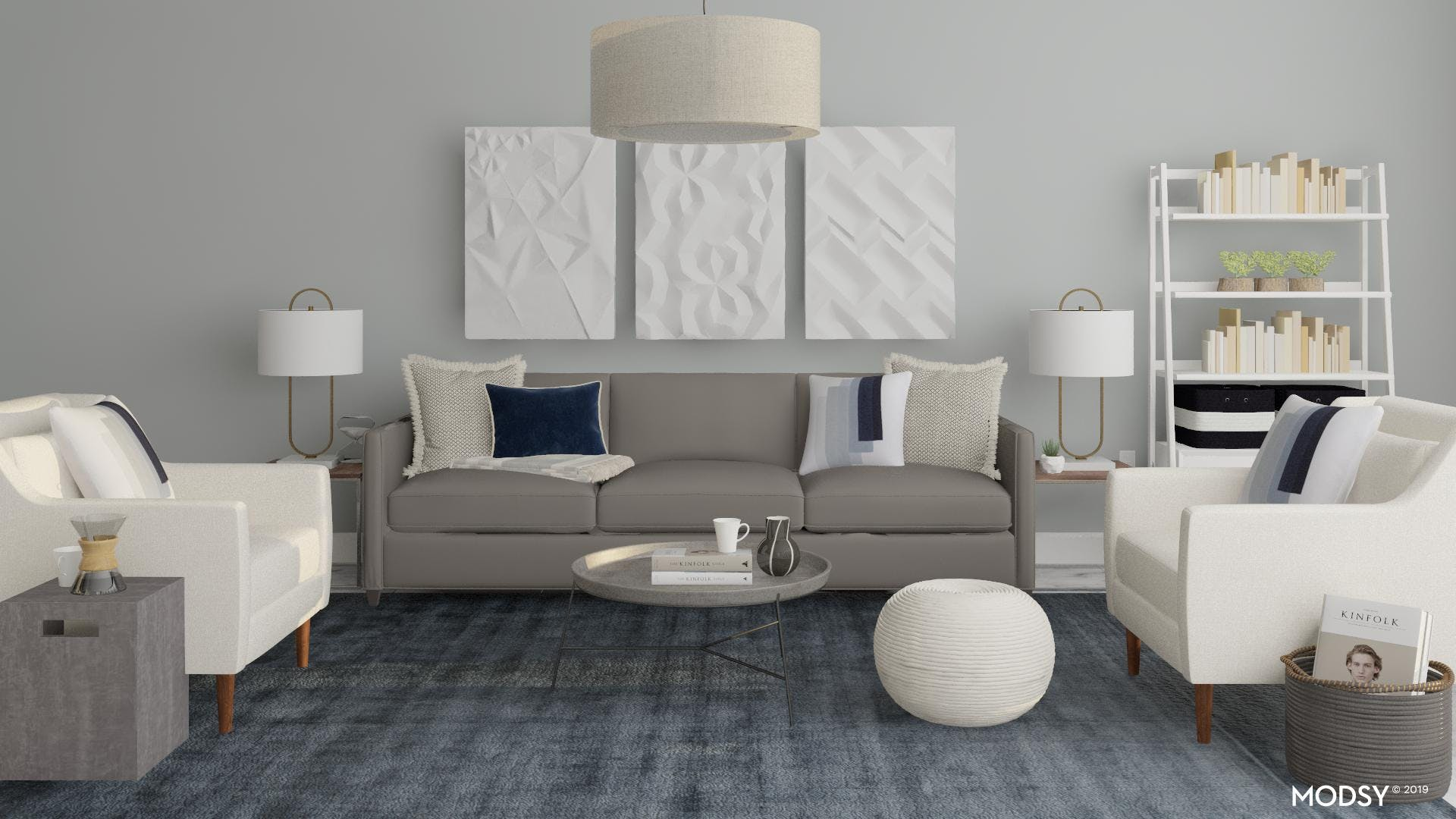 Neutral Casual Transitional Living Room