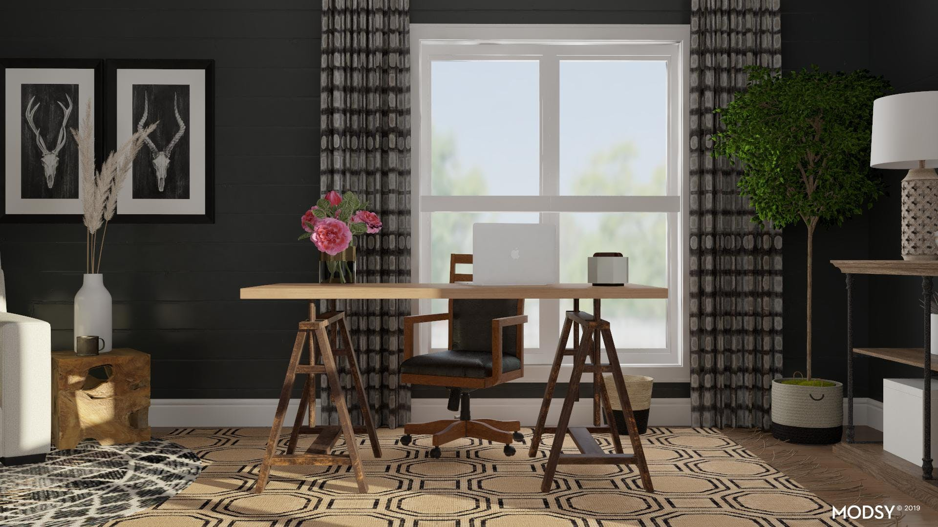 Layering Patterns In A Black And White Color Scheme