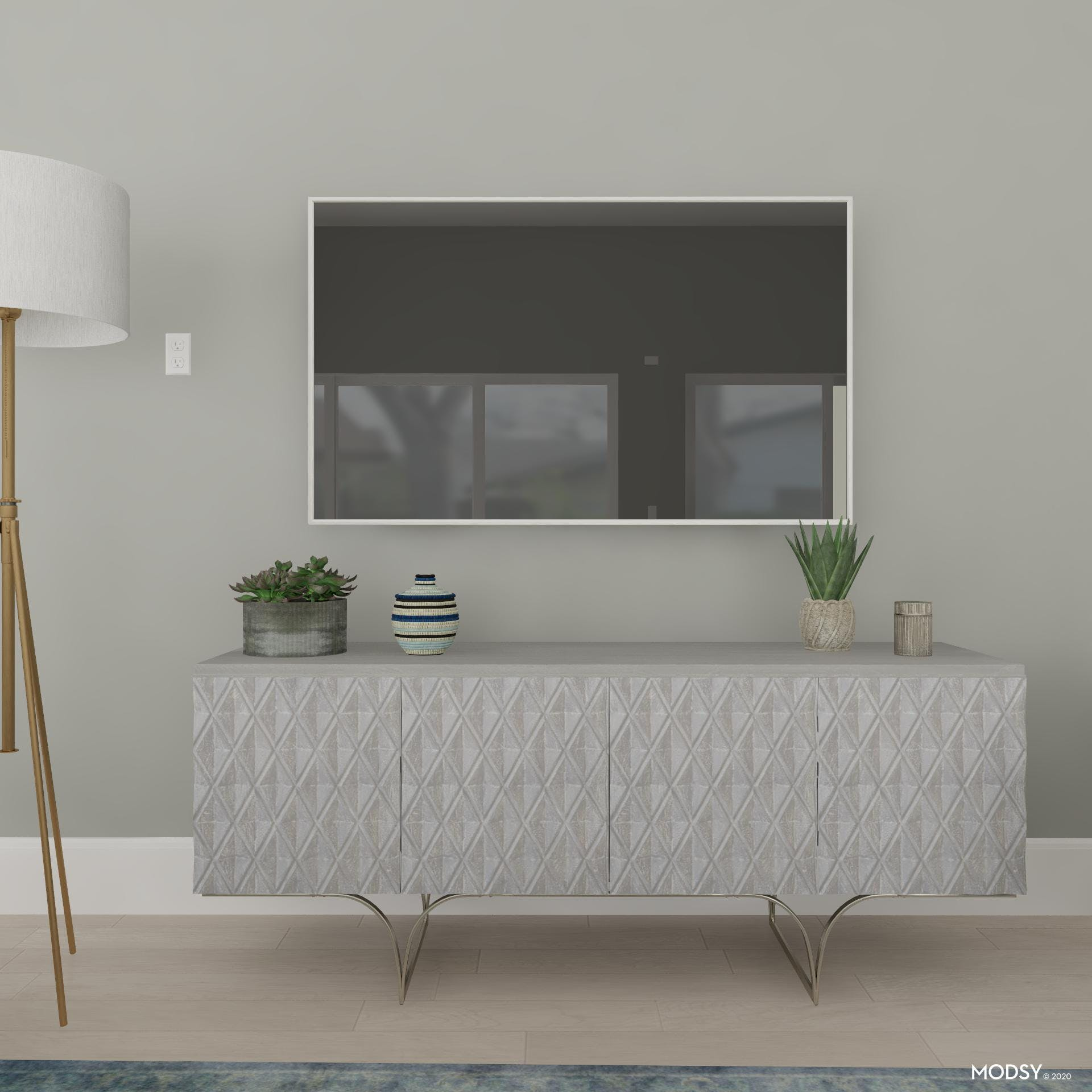 Textured Media Console