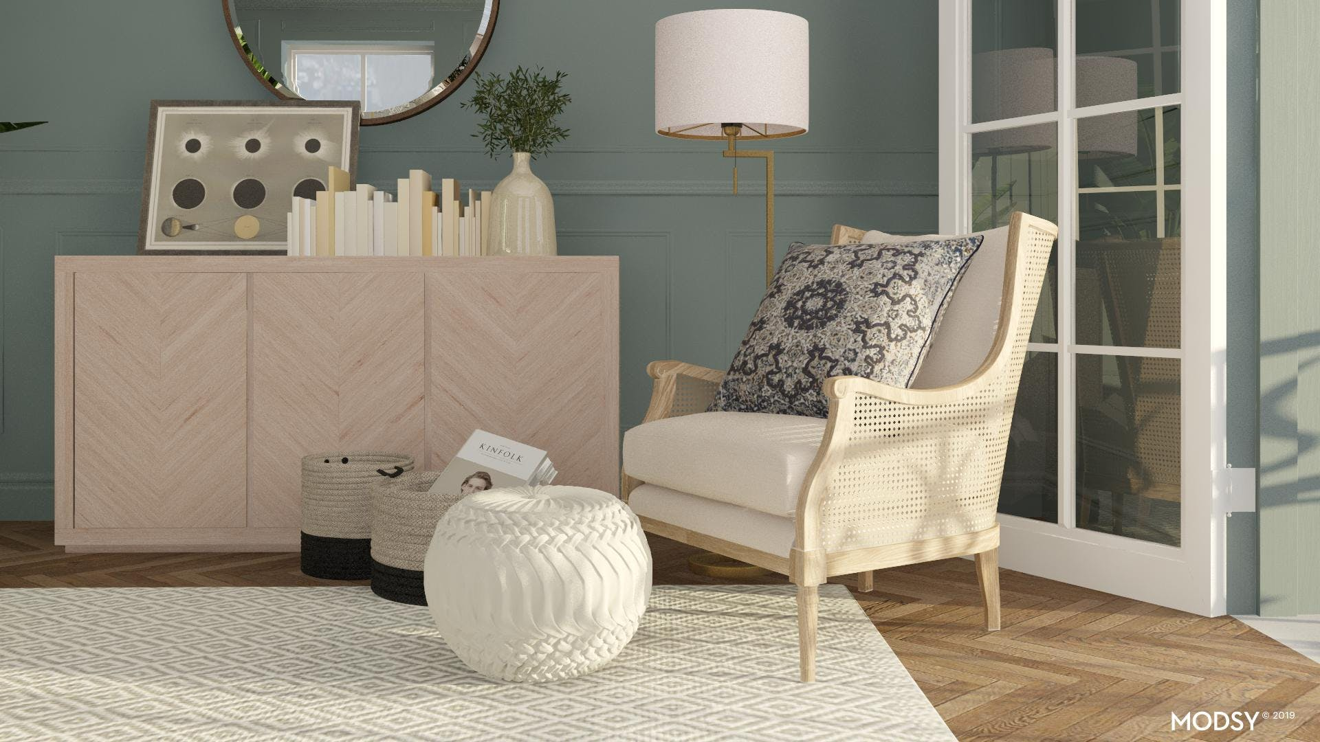 Woven Accent Chair Styling