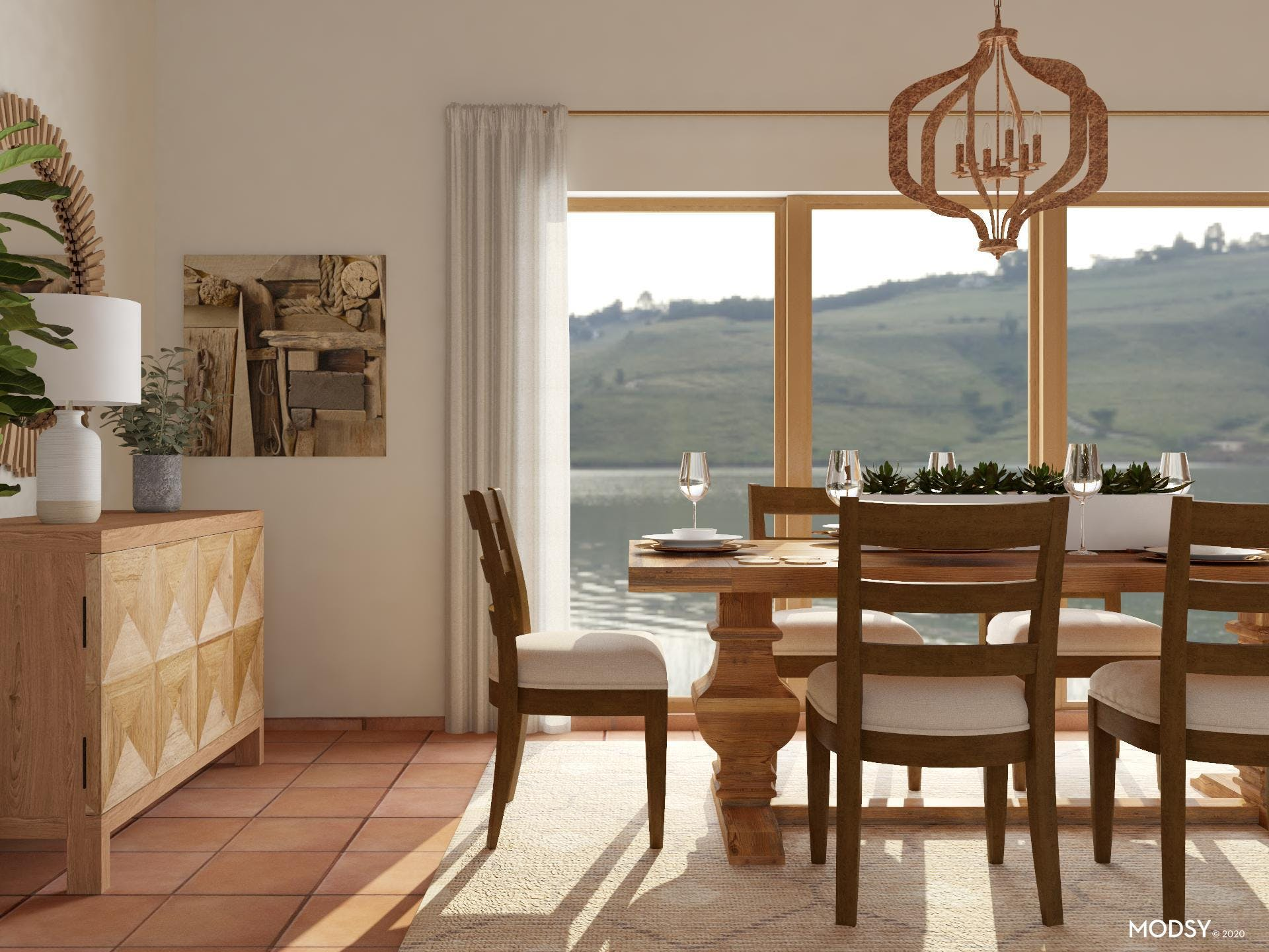 Rustic Style Dining: Inviting Room