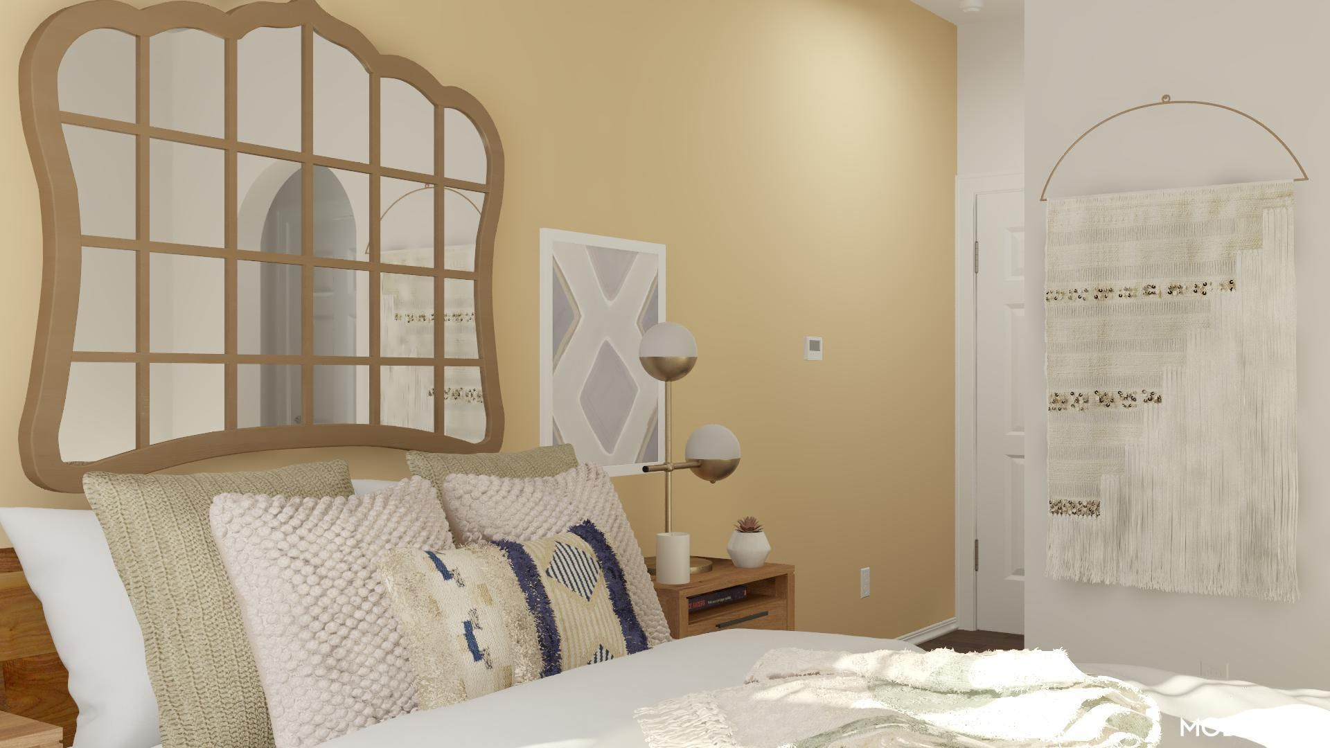 Transitional Textures: Bedroom