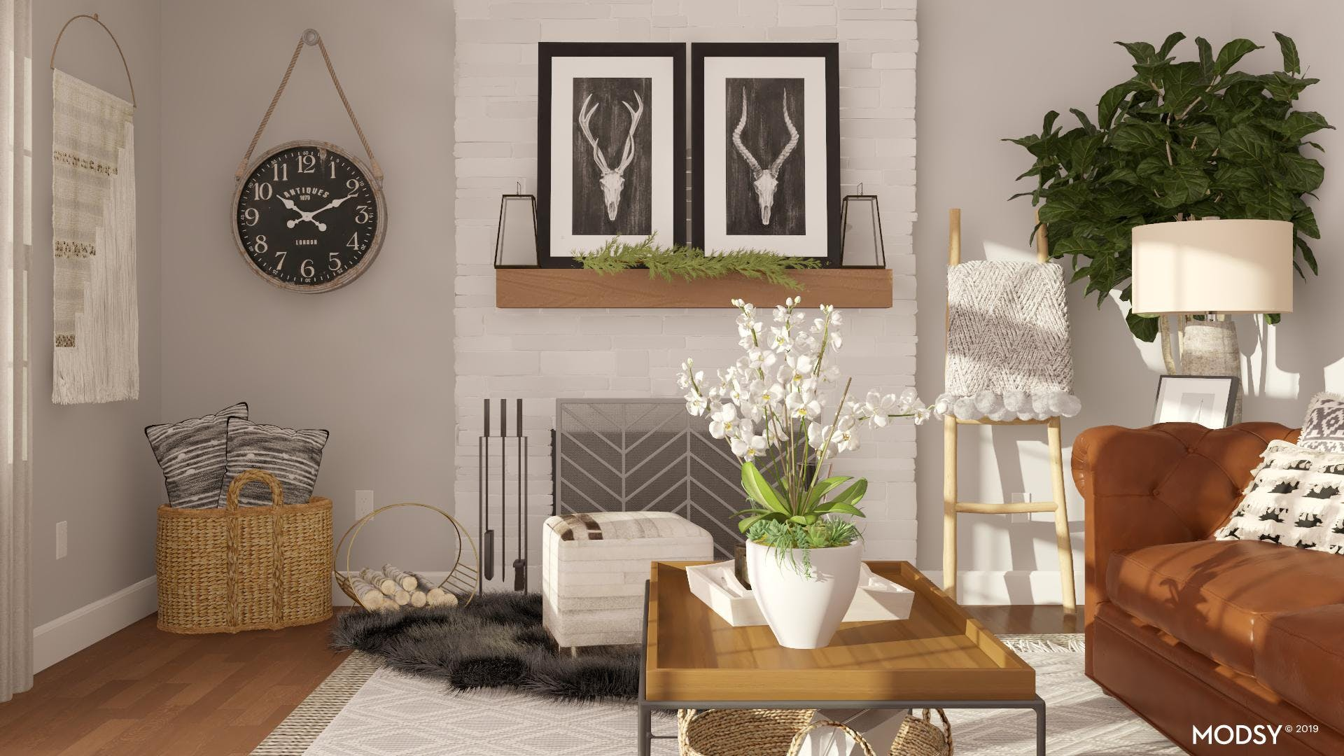 Styling A Rustic Fireplace