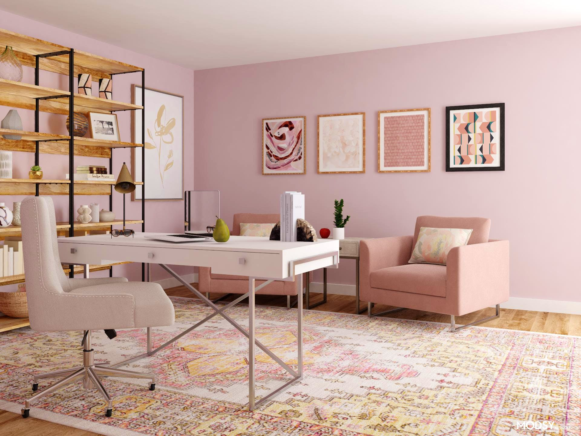 Pink Perfection: A Transitional Office