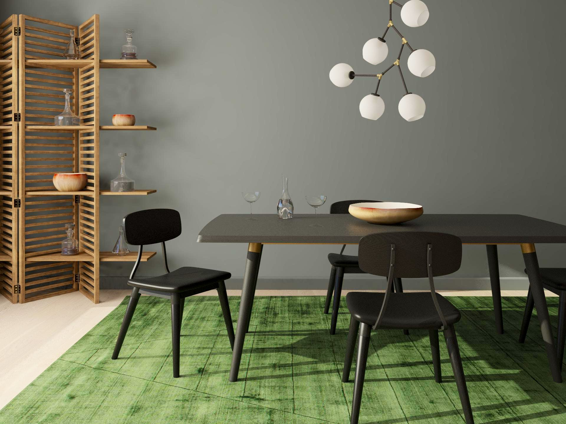 A Moody and Mod Dining Room Design