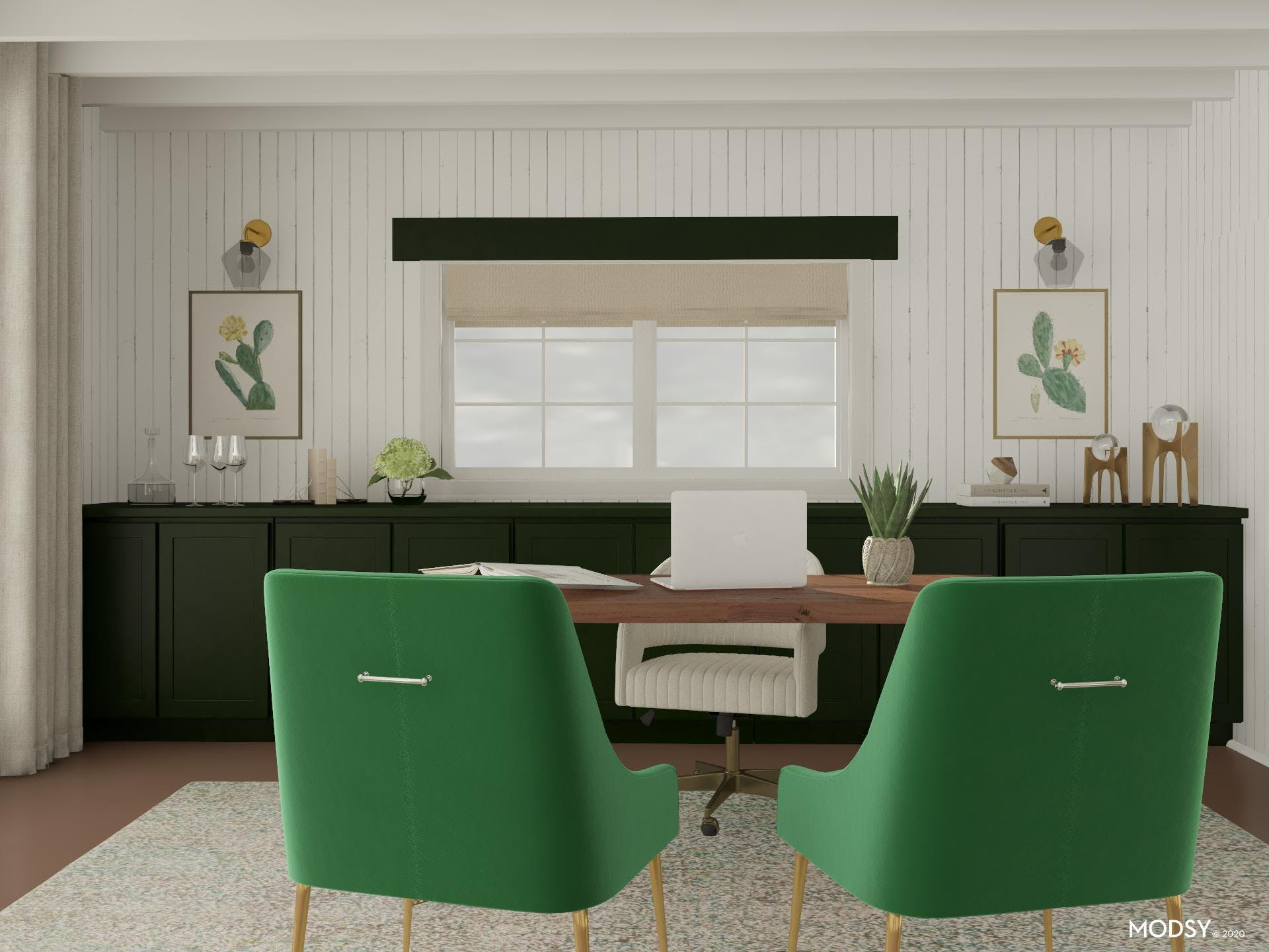 Enclosed Storage And Office Bar