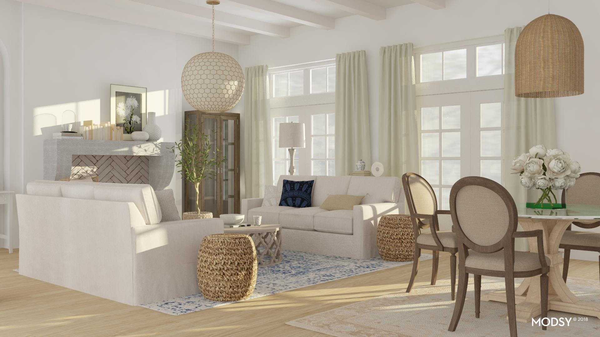 Creating Balance In A Refined-Rustic Room